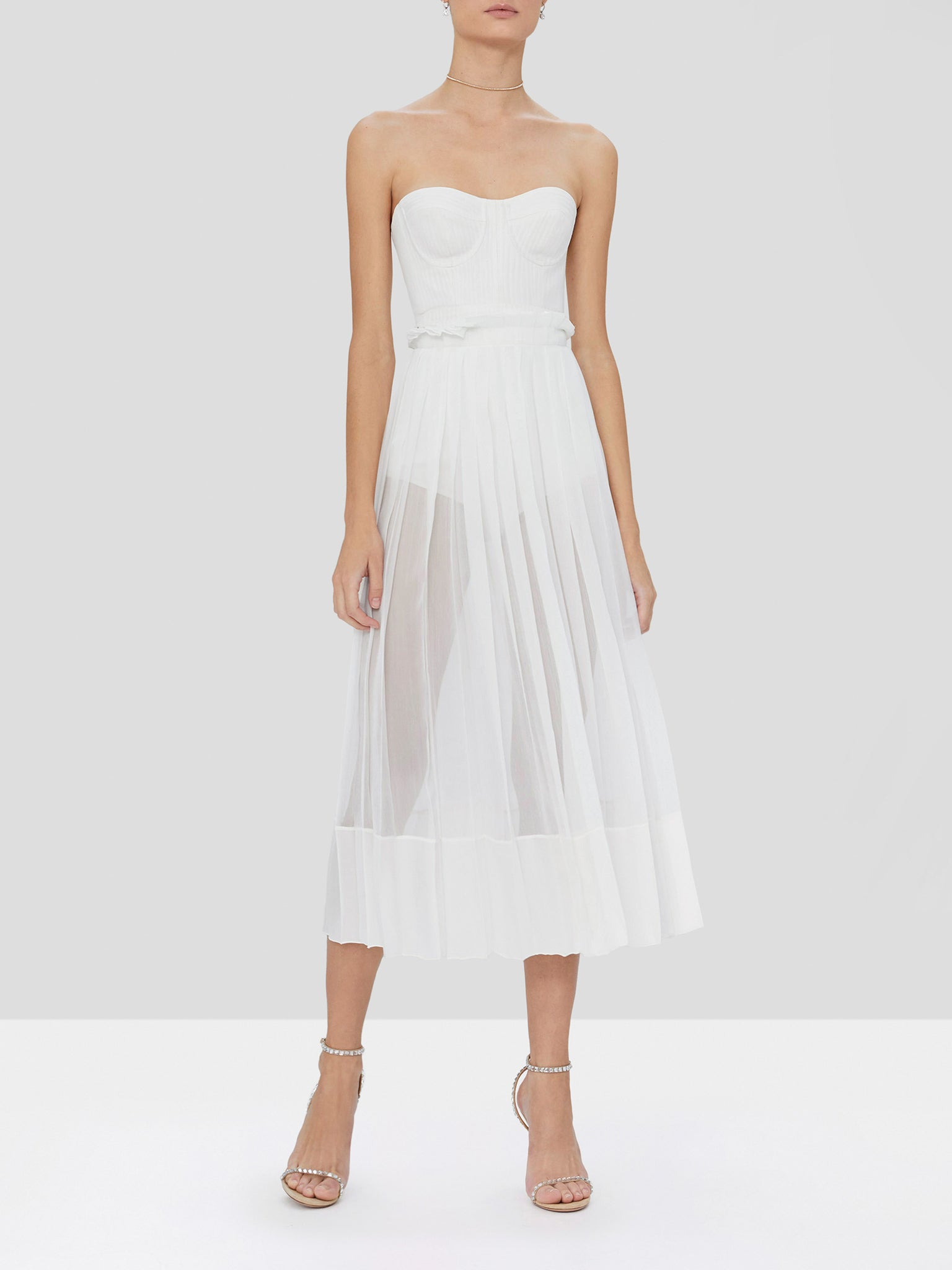 inasia dress in off white