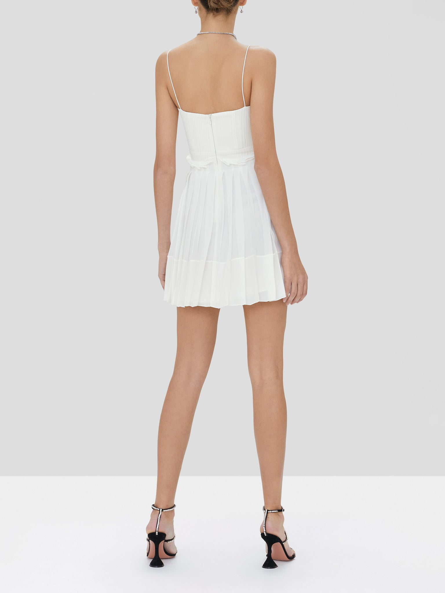 jasmine dress in white - Rear View