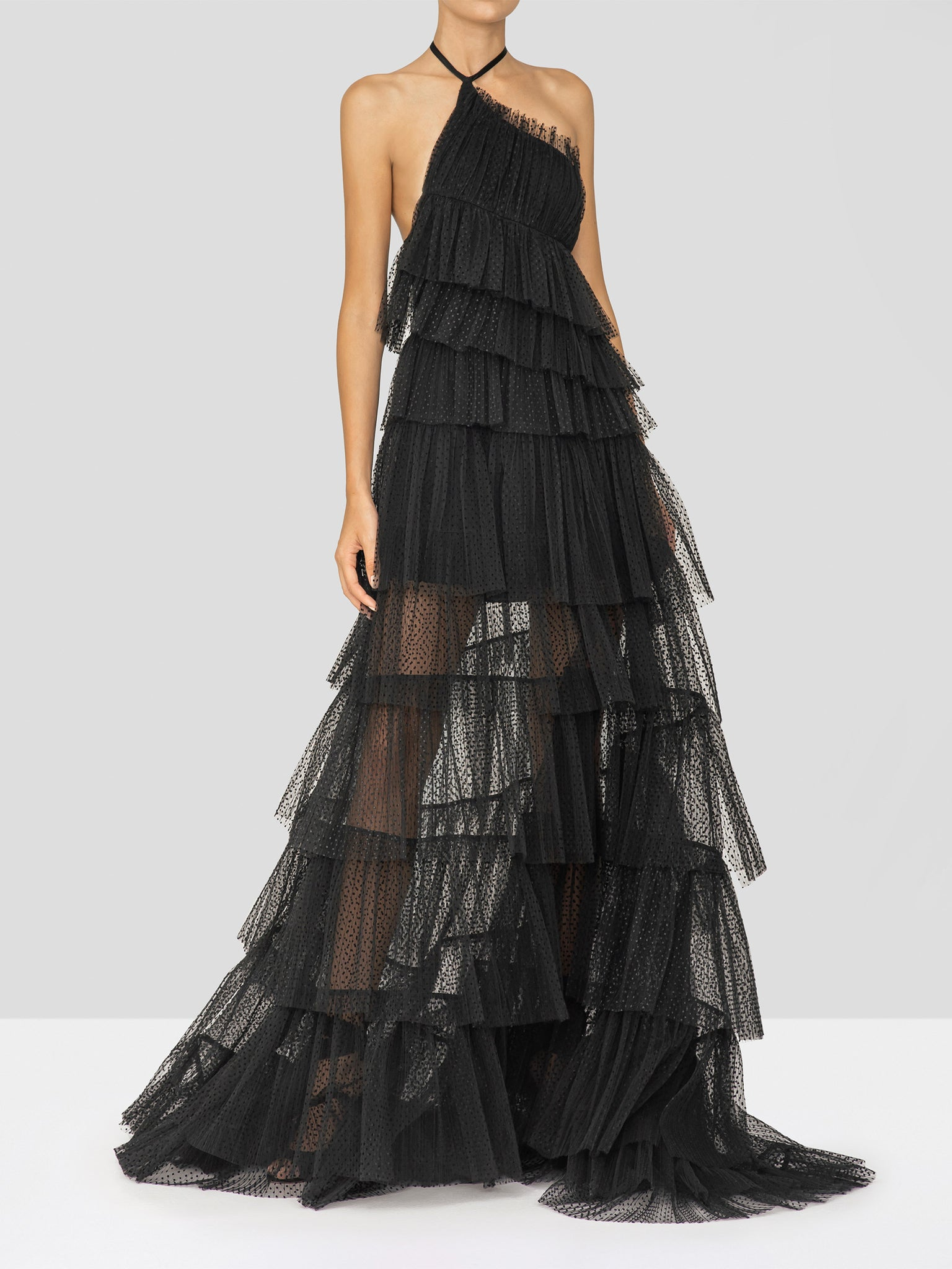 Alexis Justinia Dress in Black from the Holiday 2019 Ready To Wear Collection
