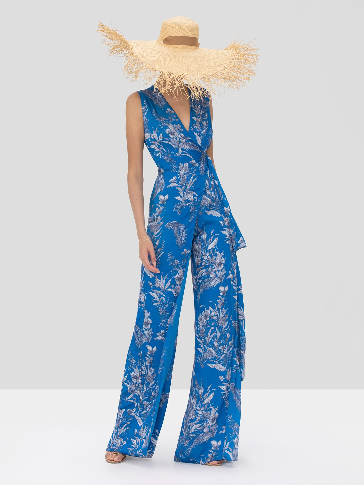 Alexis Kamiko Jumpsuit in Blue Palm from Spring Summer 2020 Collection