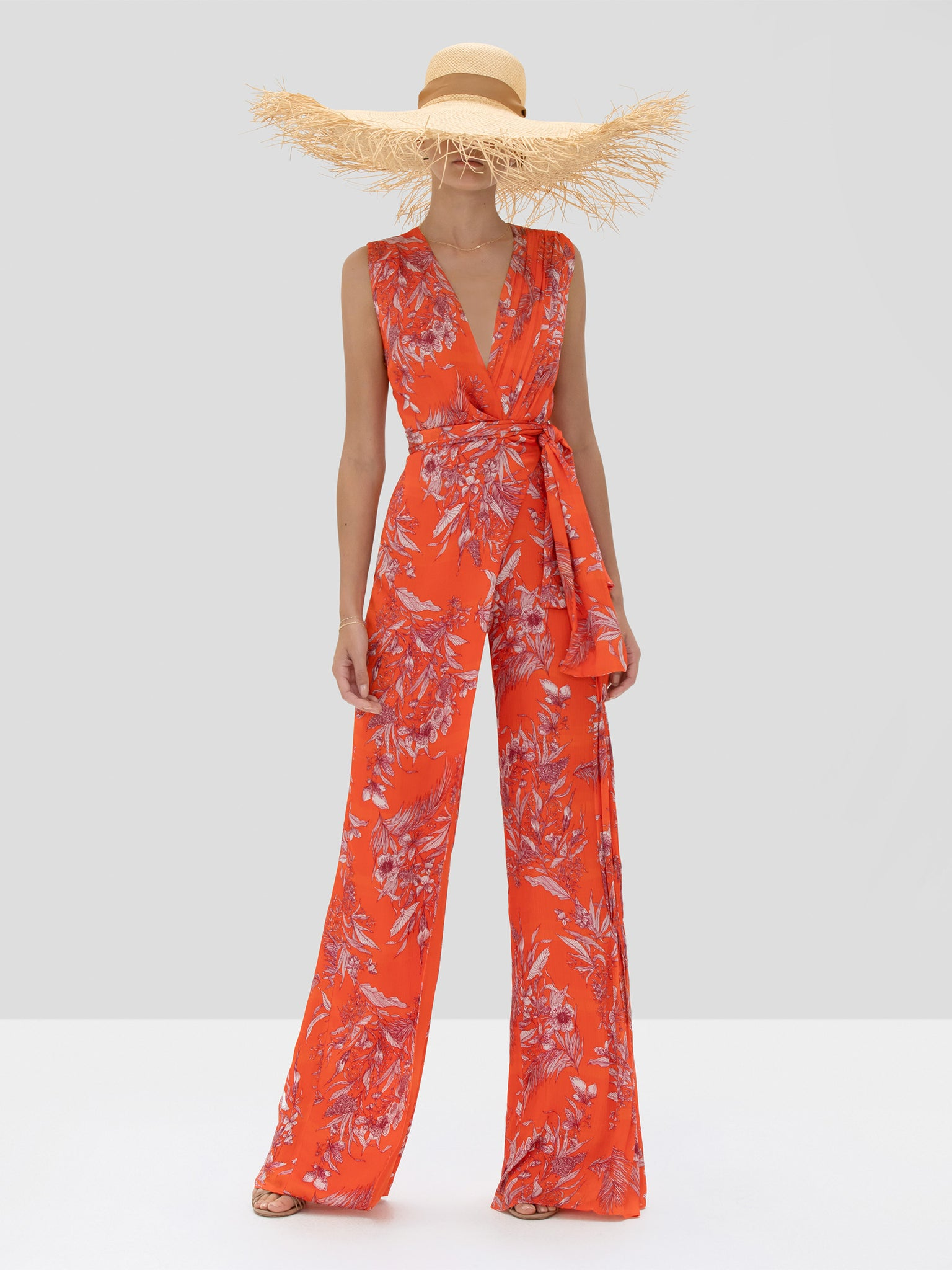Alexis Kamiko Jumpsuit in Mandarin Palm from the Spring Summer 2020 Collection