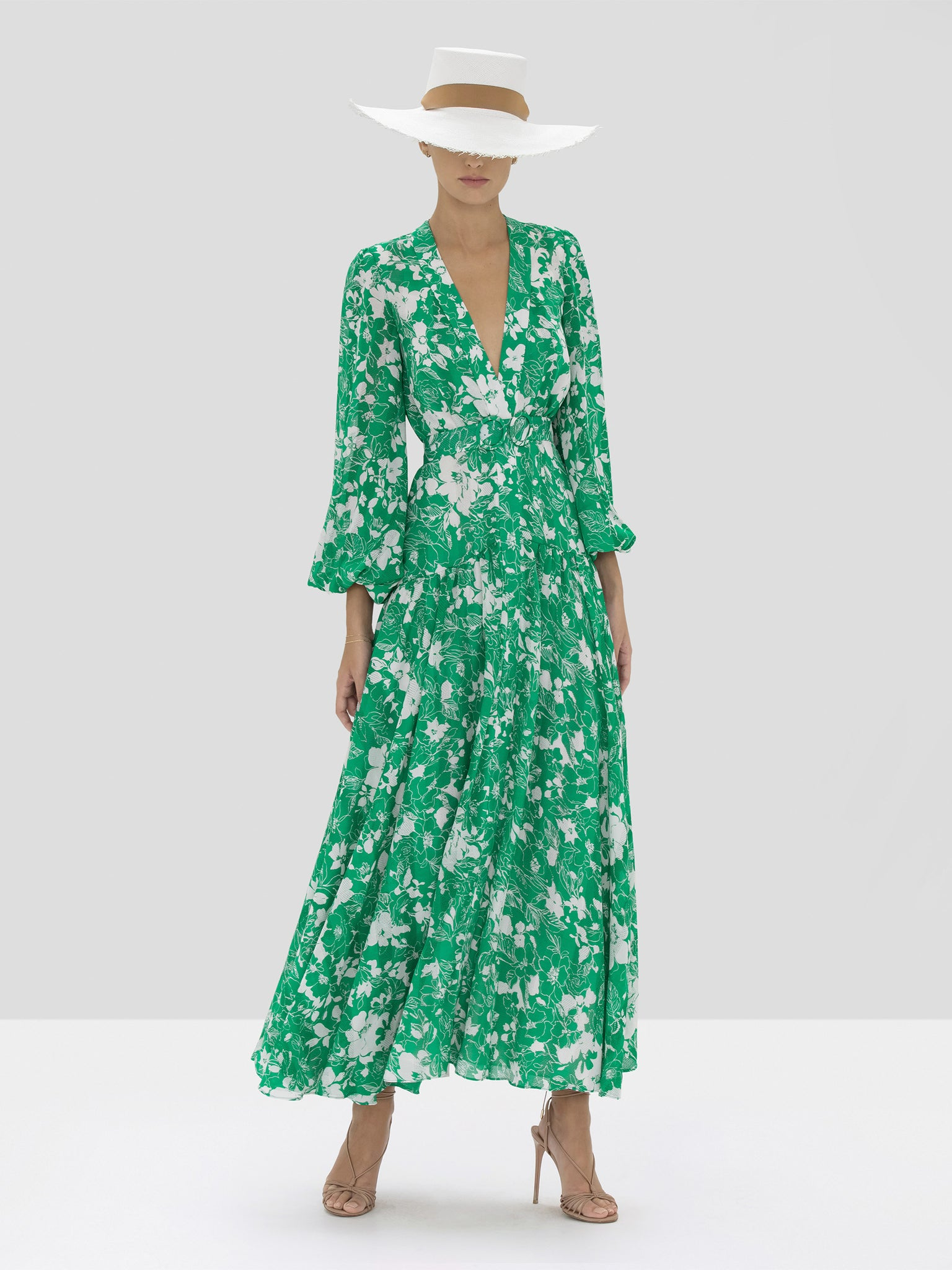 The Kazmera Dress in Emerald Floral from the Spring Summer 2020 Ready To Wear Collection.