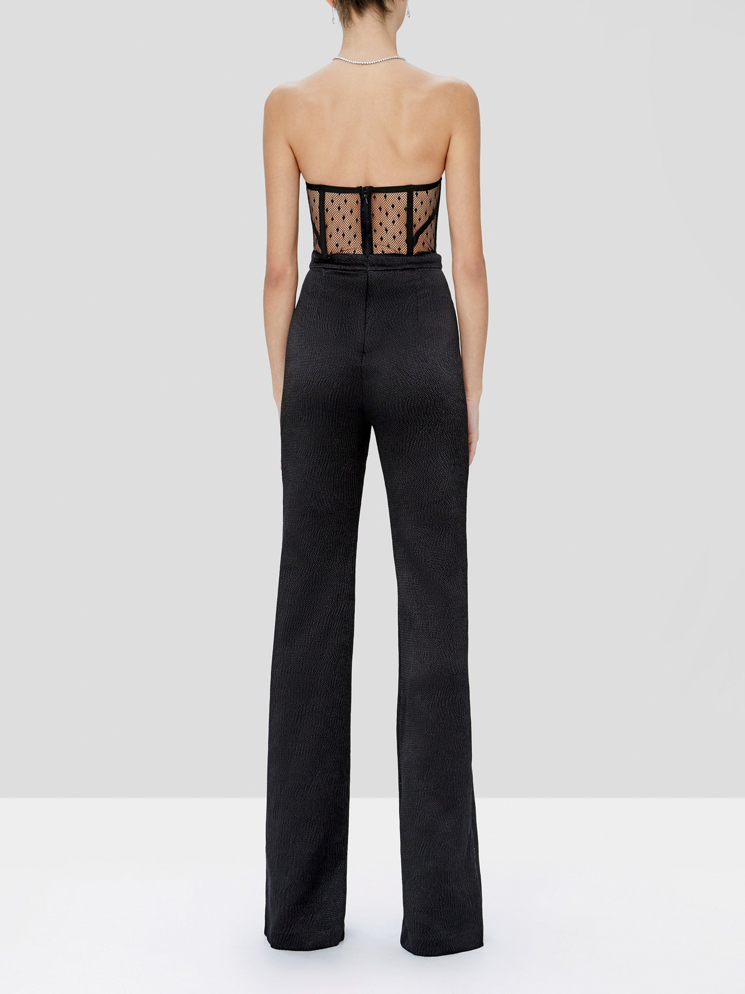 Lauren jumpsuit in black - Rear View