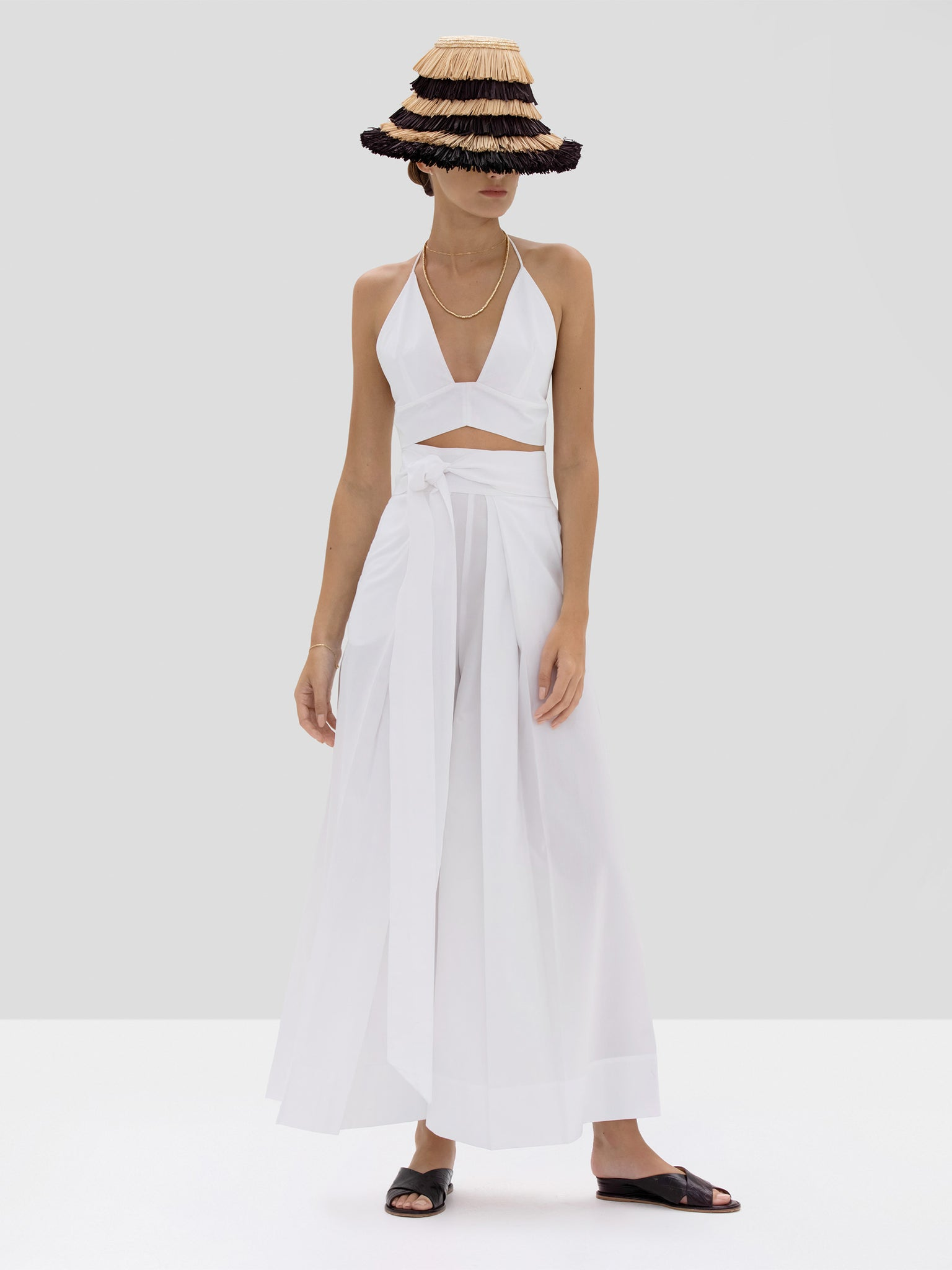 Alexis Linos Top and Bandol Pant in White from Spring Summer 2020 Collection