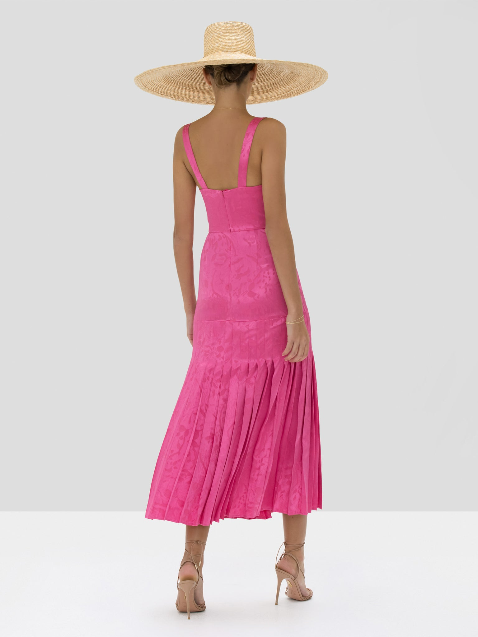 Alexis Lovra Dress in Vivid Fuschia from Spring Summer 2020 - Rear View