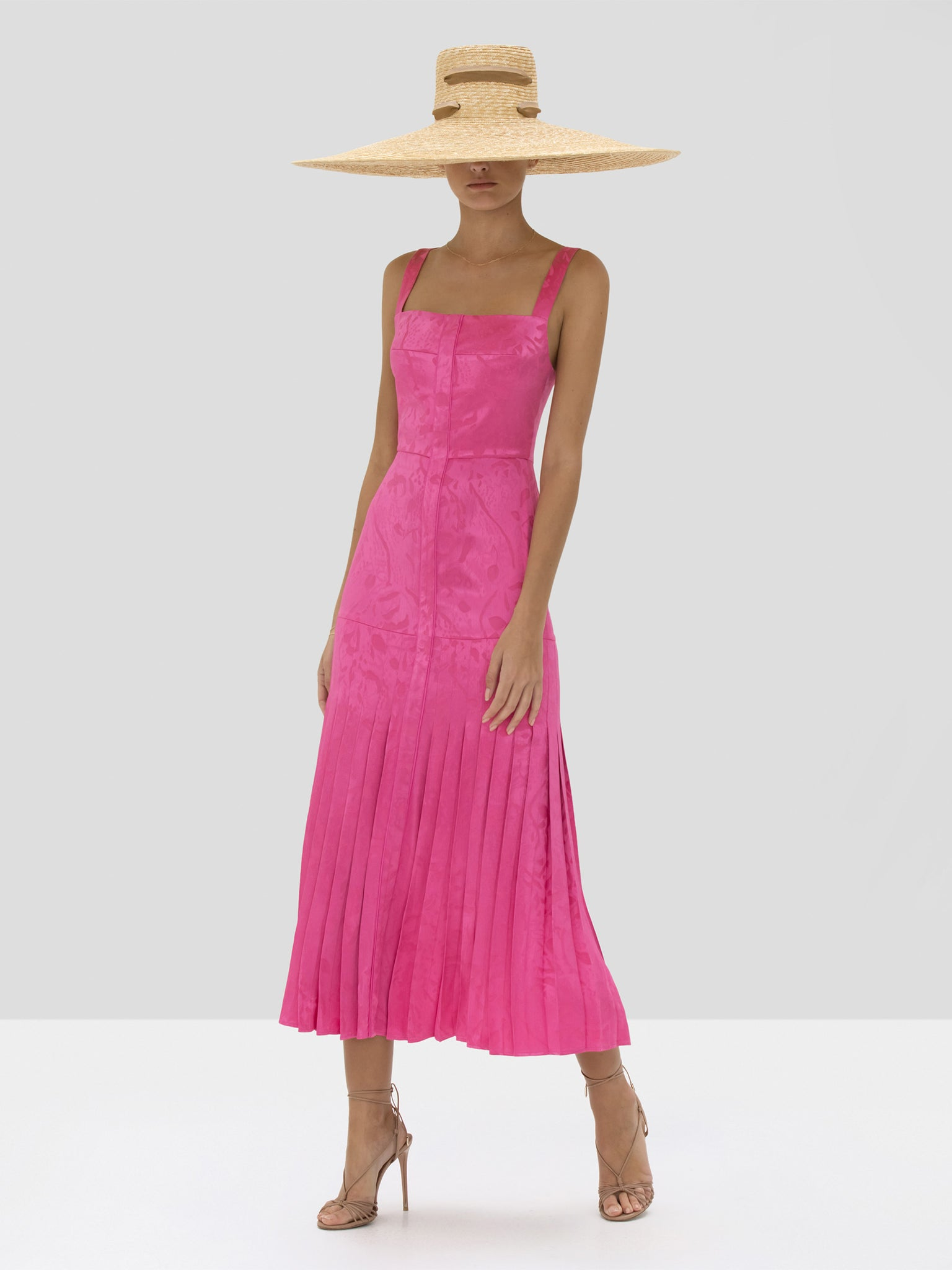 Alexis Lovra Dress in Vivid Fuschia from Spring Summer 2020