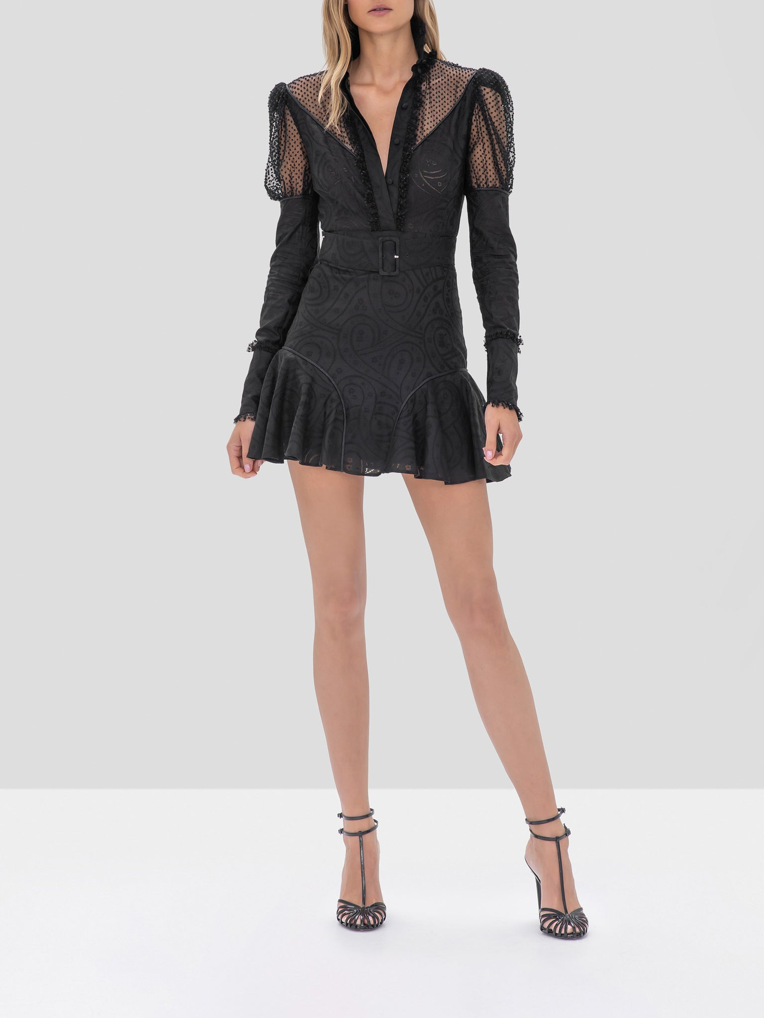 Alexis Madilyn Dress in Black from the Fall Winter 2019 Ready To Wear Collection