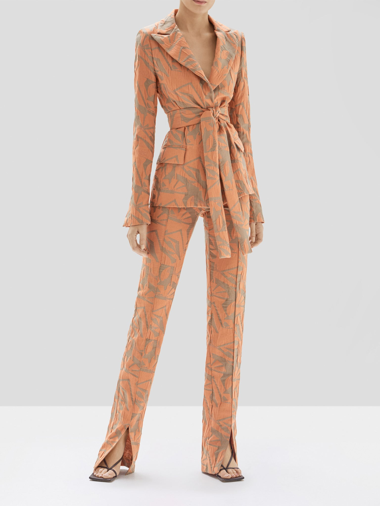 Alexis Malda Jacket and Attila Pant in Amber from the Pre Spring 2020 Collection