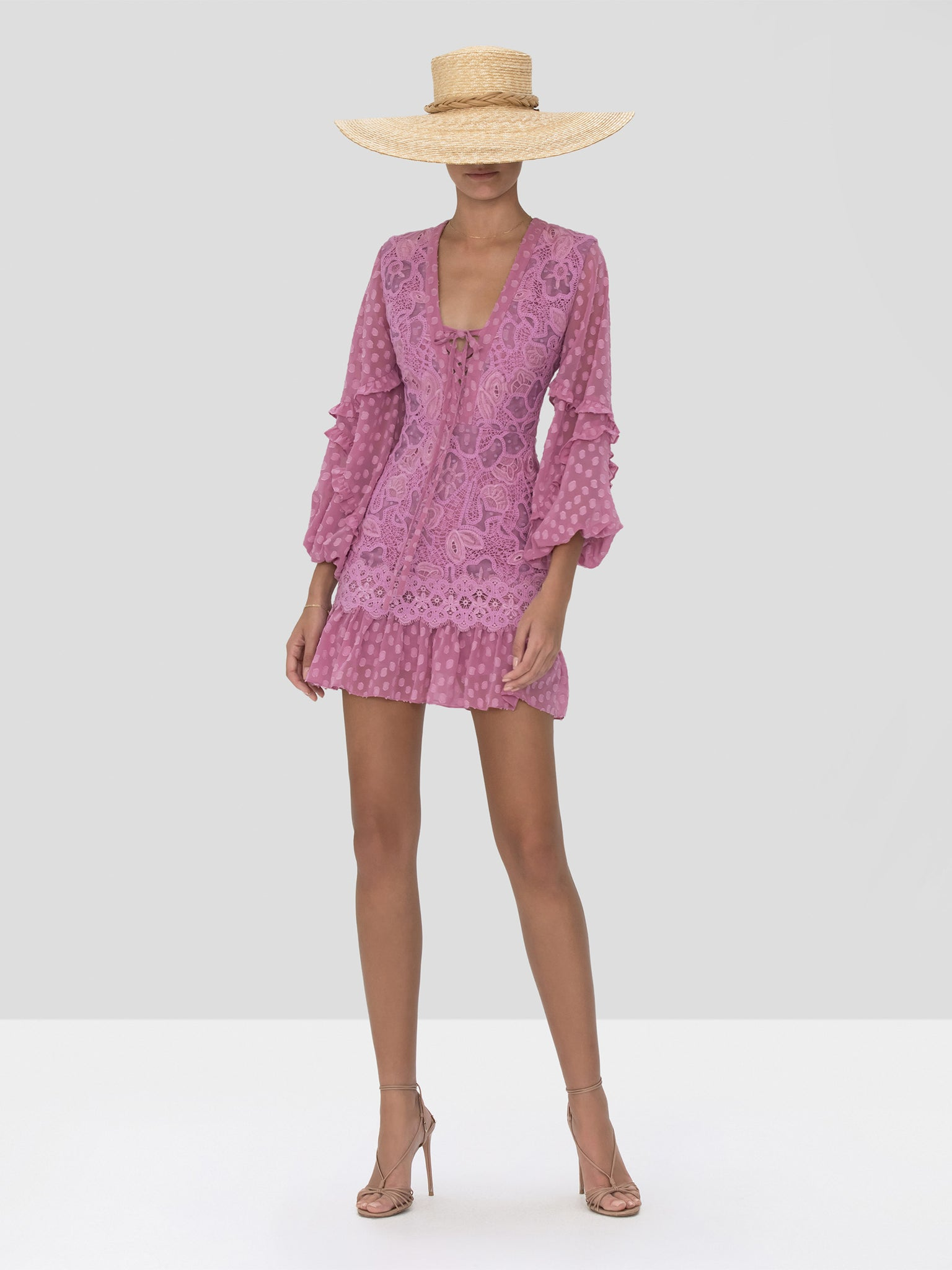 The Malicha Dress in Lilac Macrame from the Spring Summer 2020