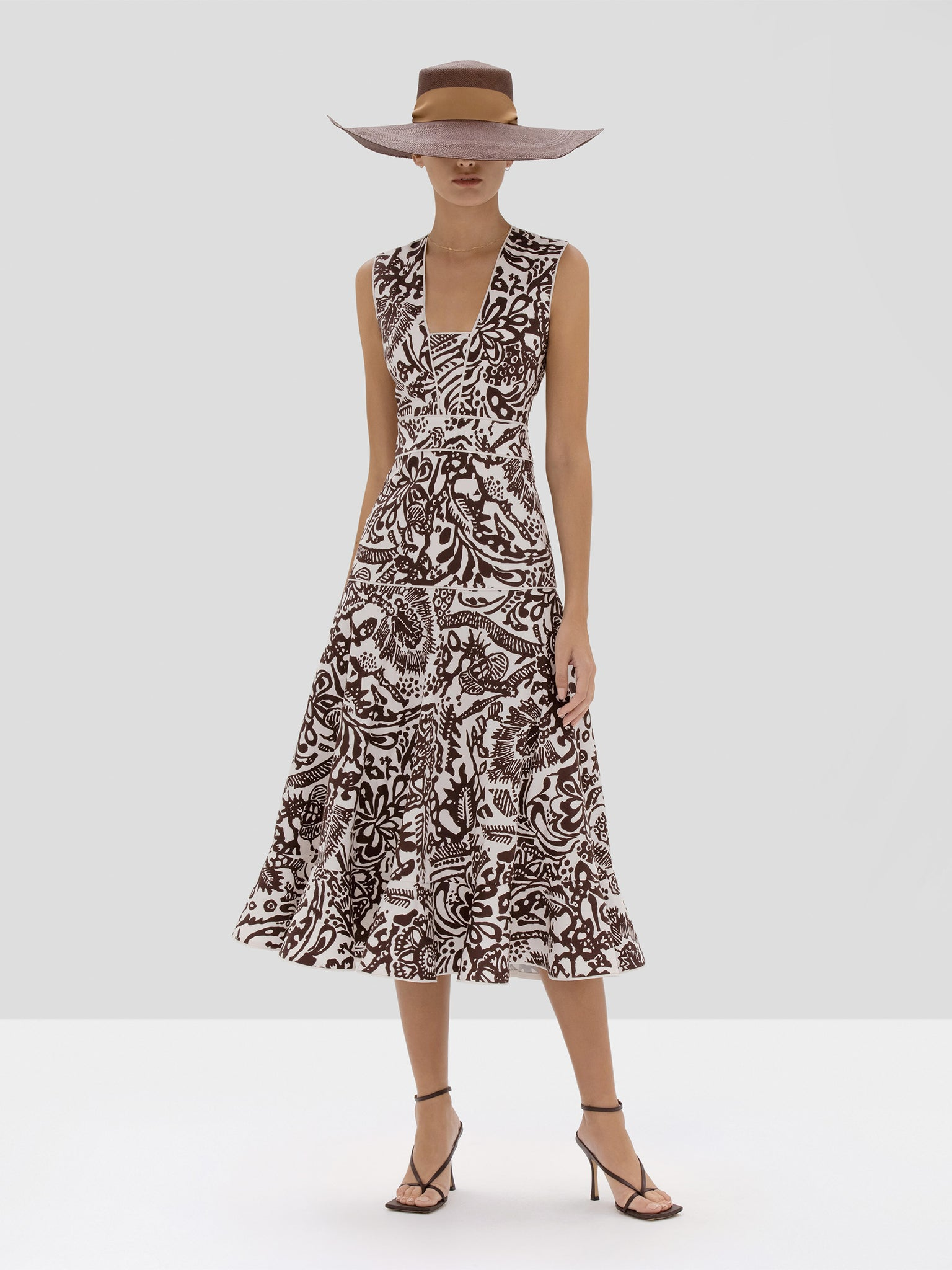 Alexis Marianna Dress in Tropical Brown from Spring Summer 2020