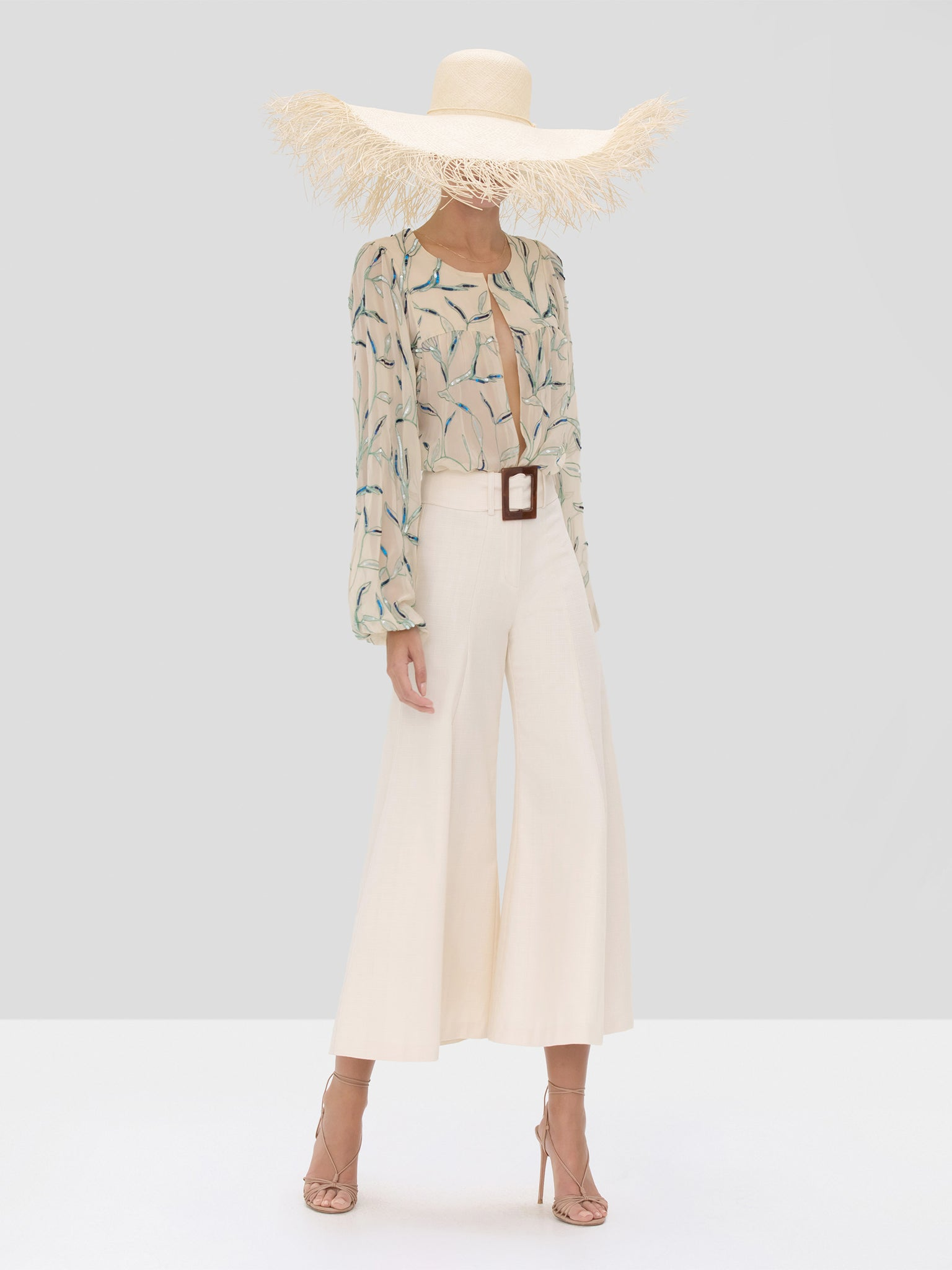 Alexis Markos Pant in Off White from Spring Summer 2020 Collection