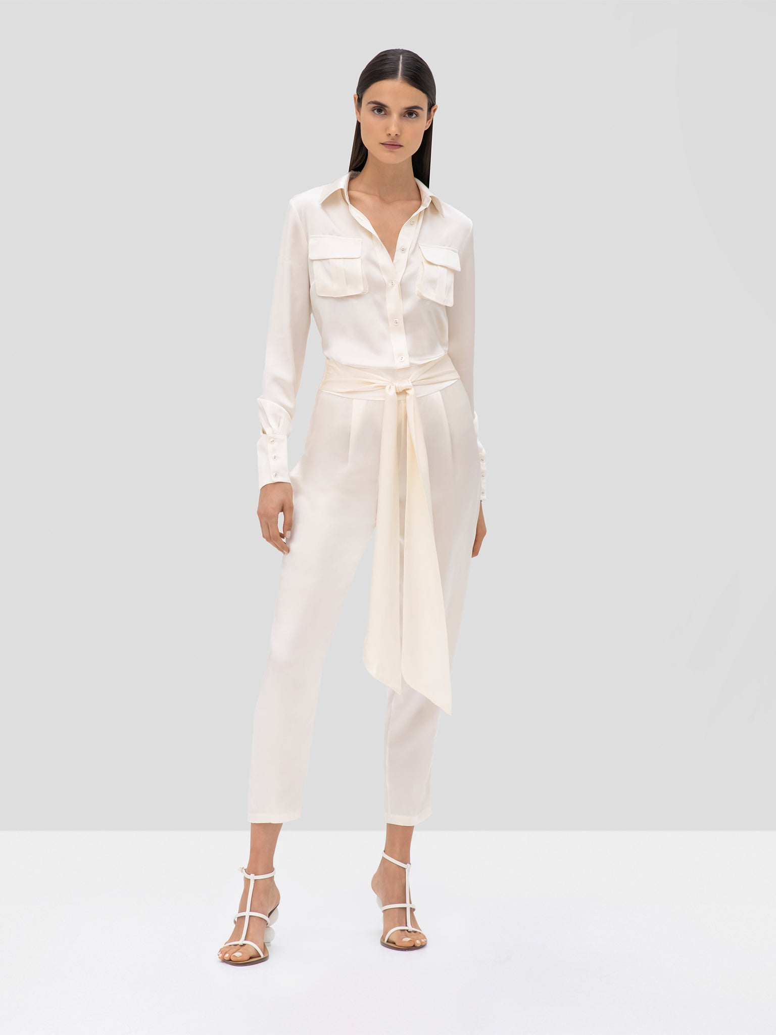 Alexis Montrose Top and Judson Pant in Ivory