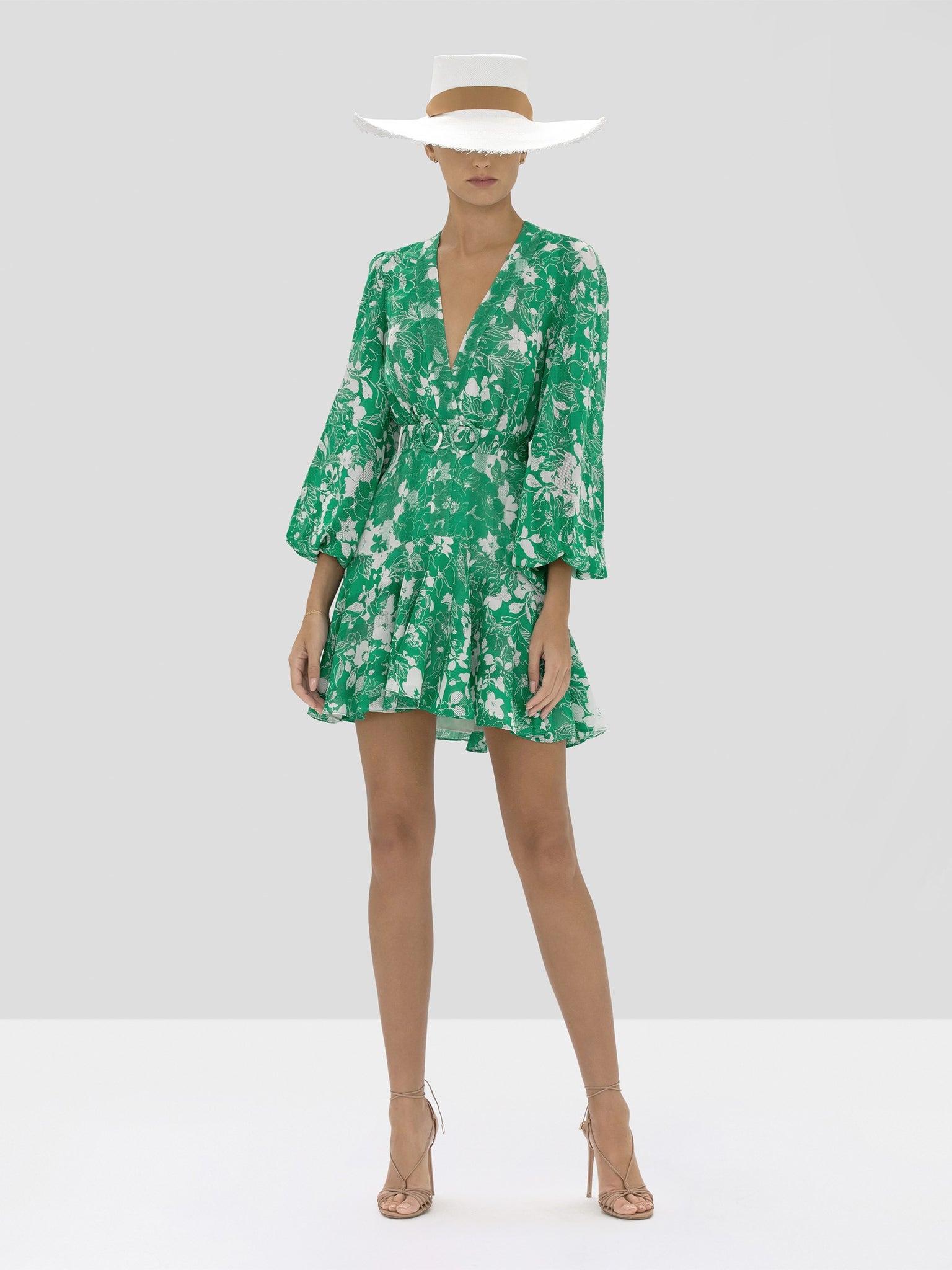 The Neala Dress in Emerald Floral from the Spring Summer 2020 Ready To Wear Collection.