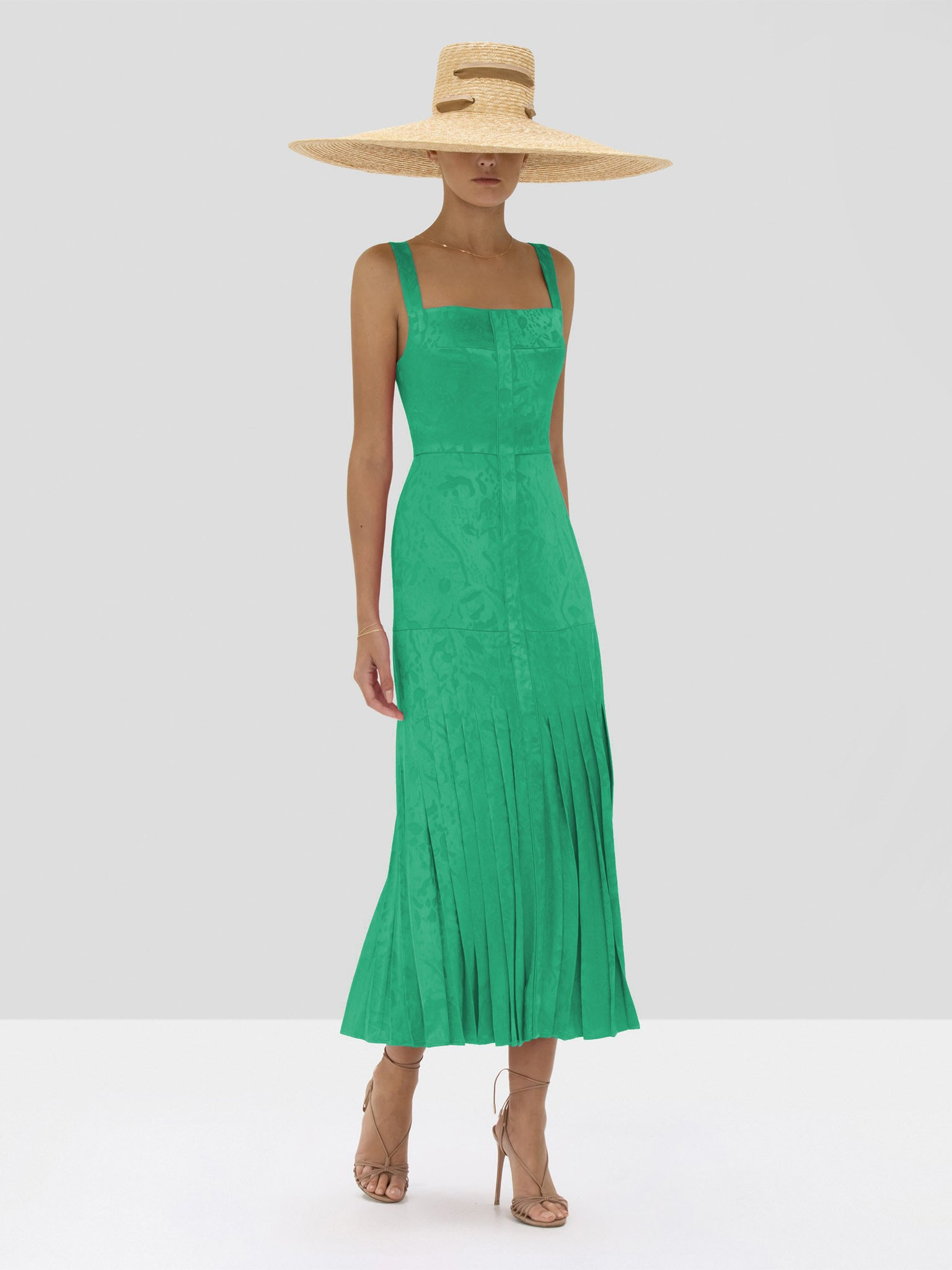 Alexis Oraina Dress in Emerald Green from Spring Summer 2020 Collection