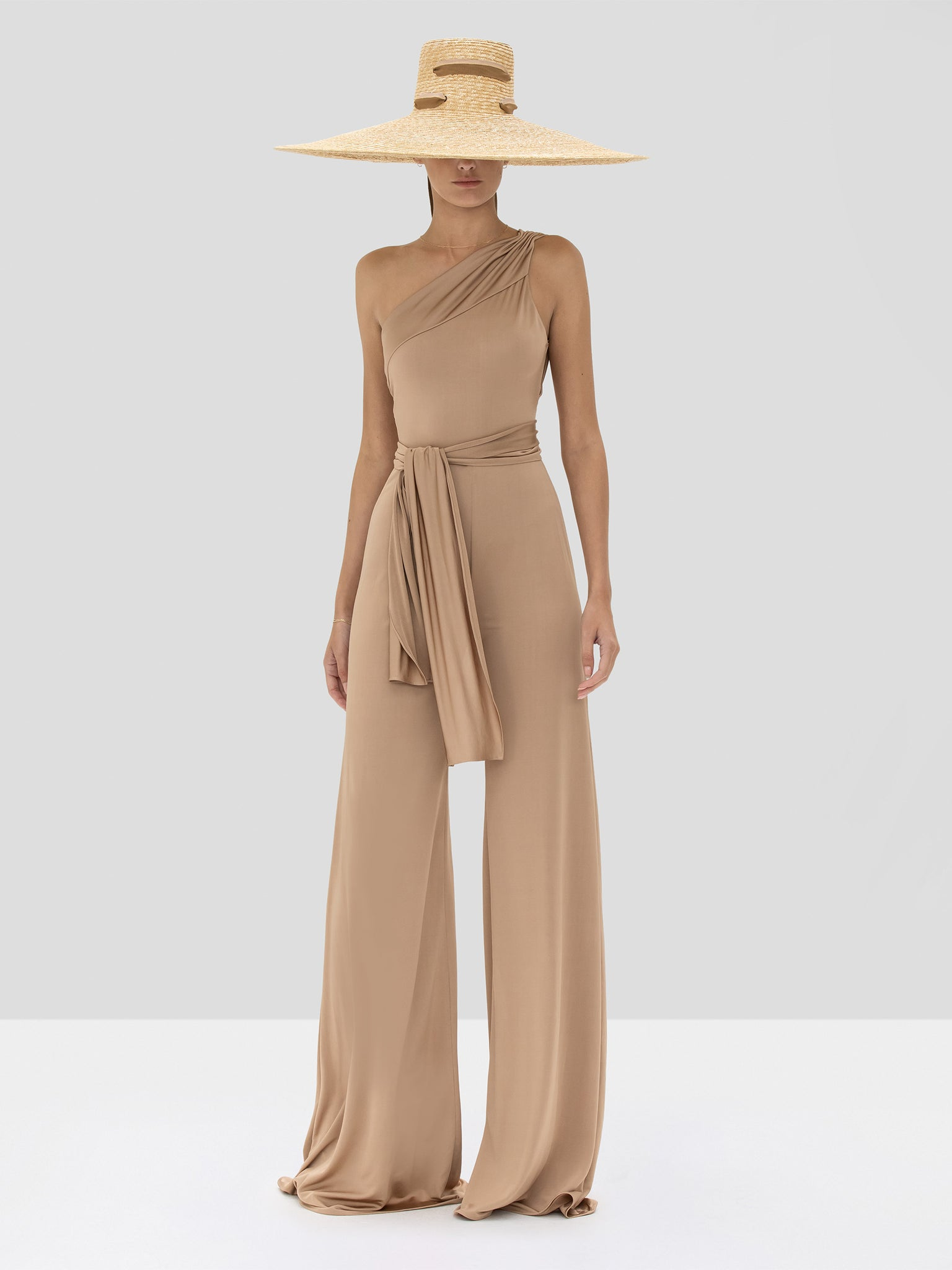Alexis Parson Jumpsuit in Tan from the Spring Summer 2020 Collection