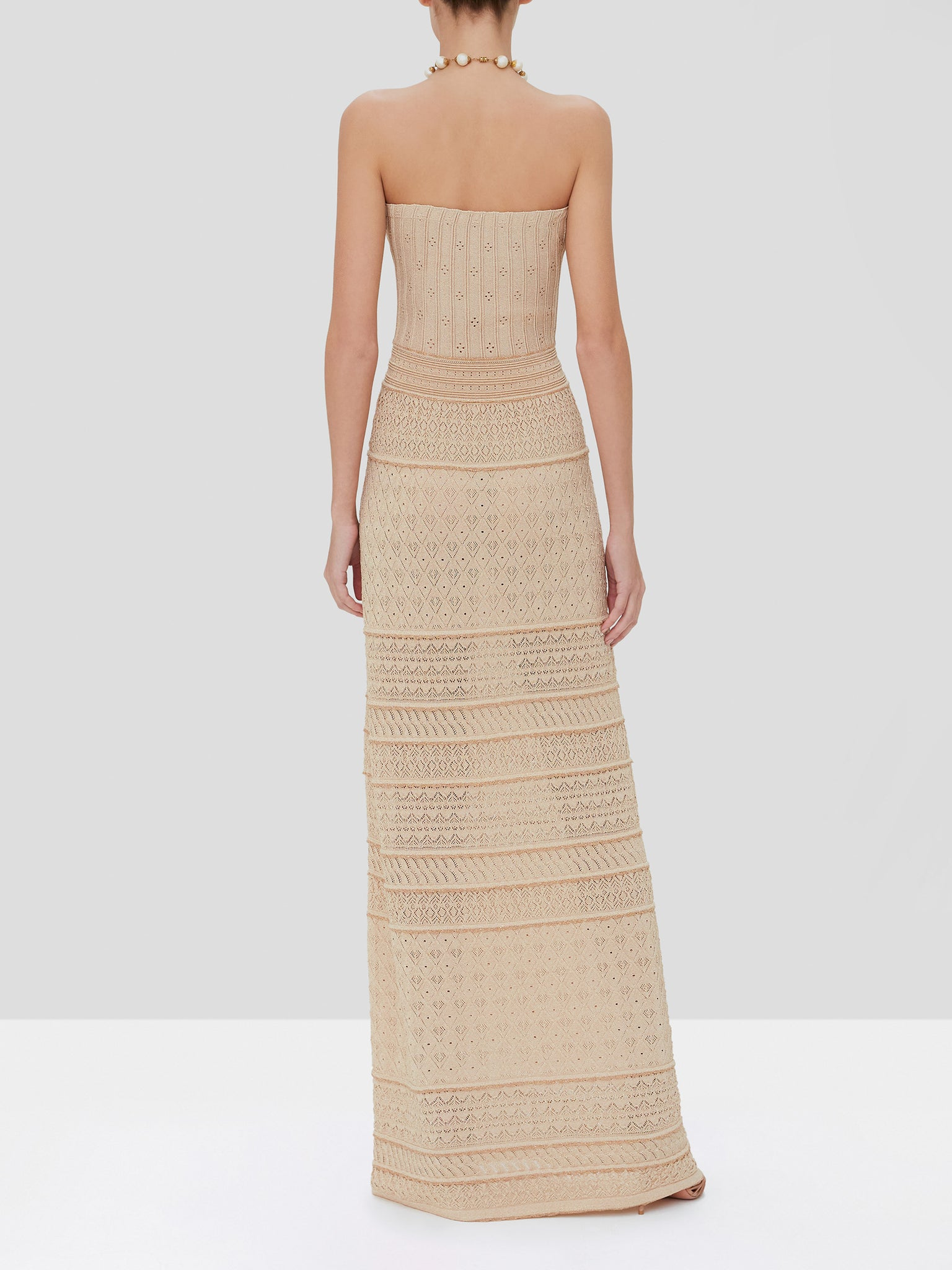 pollie dress in dusty gold - Rear View
