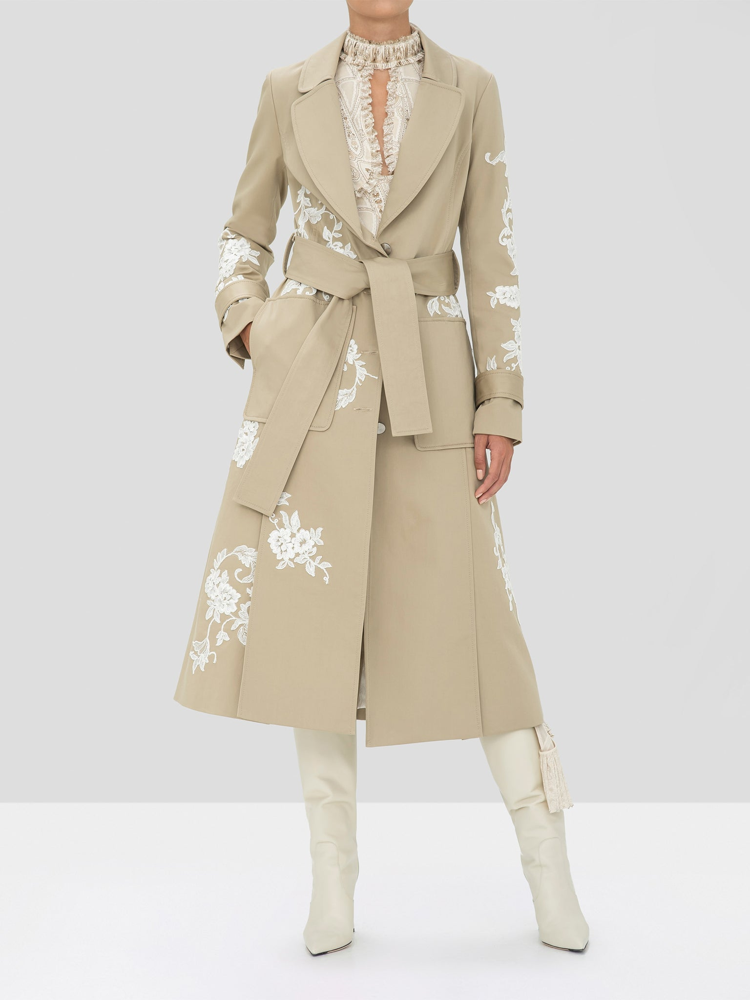 Alexis Prado Coat in Tan from the Holiday 2019 Ready To Wear Collection
