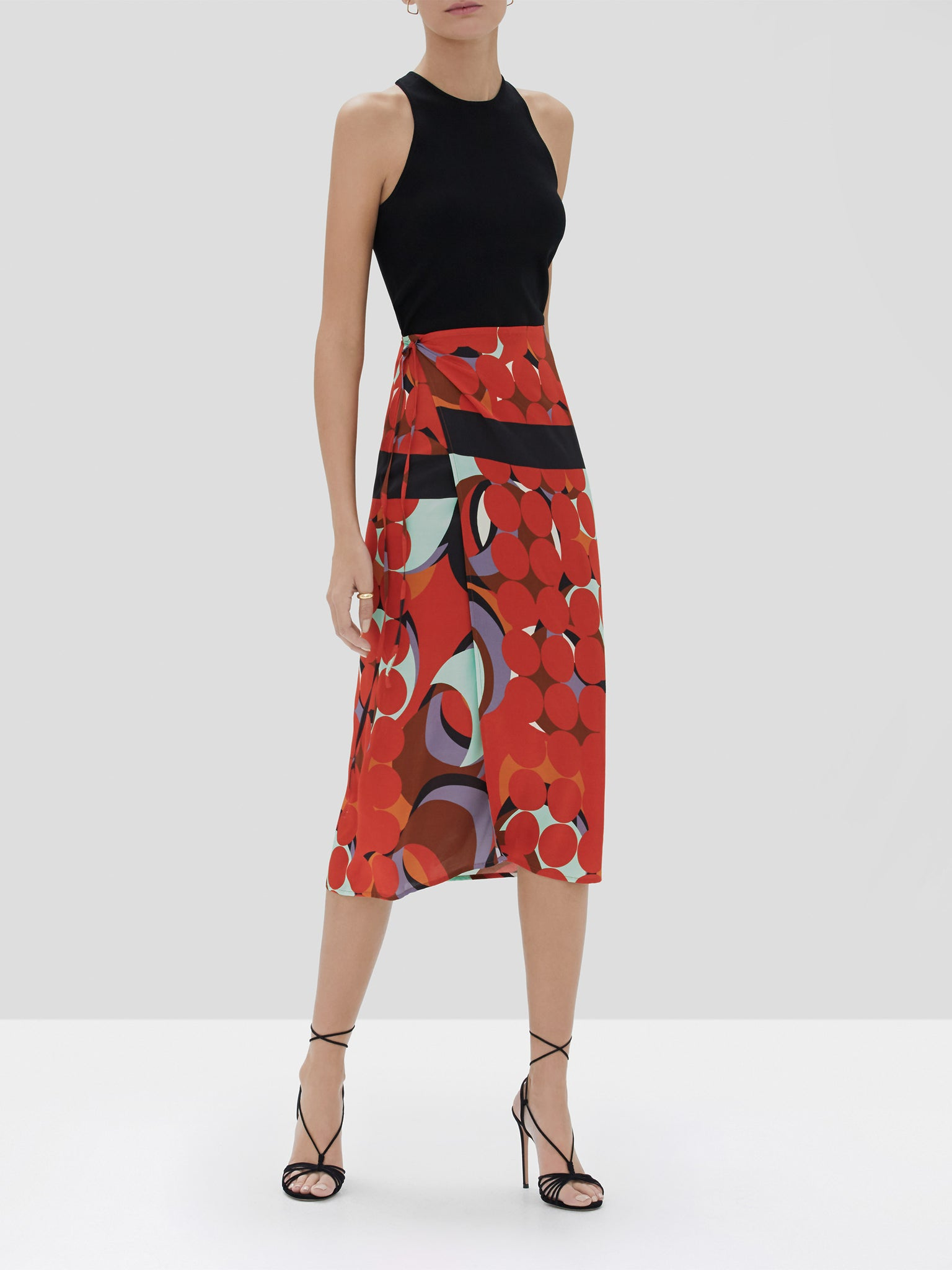 Alexis Quora Skirt in Red Eclipse from the Fall Winter 2019 Ready To Wear Collection