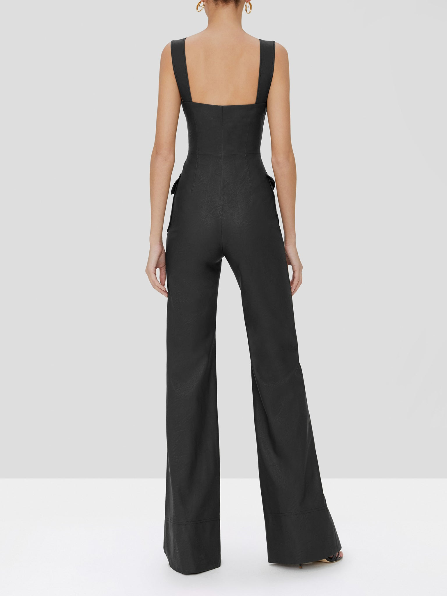 reverie jumpsuit in black - Rear View