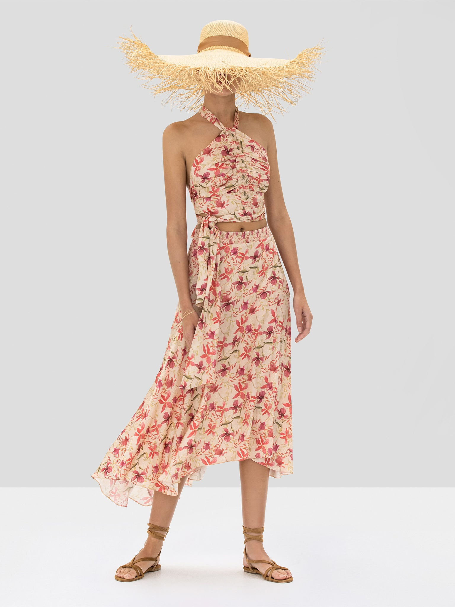 The Bazli Skirt in Wild Orchid Rose from the Spring Summer 2020