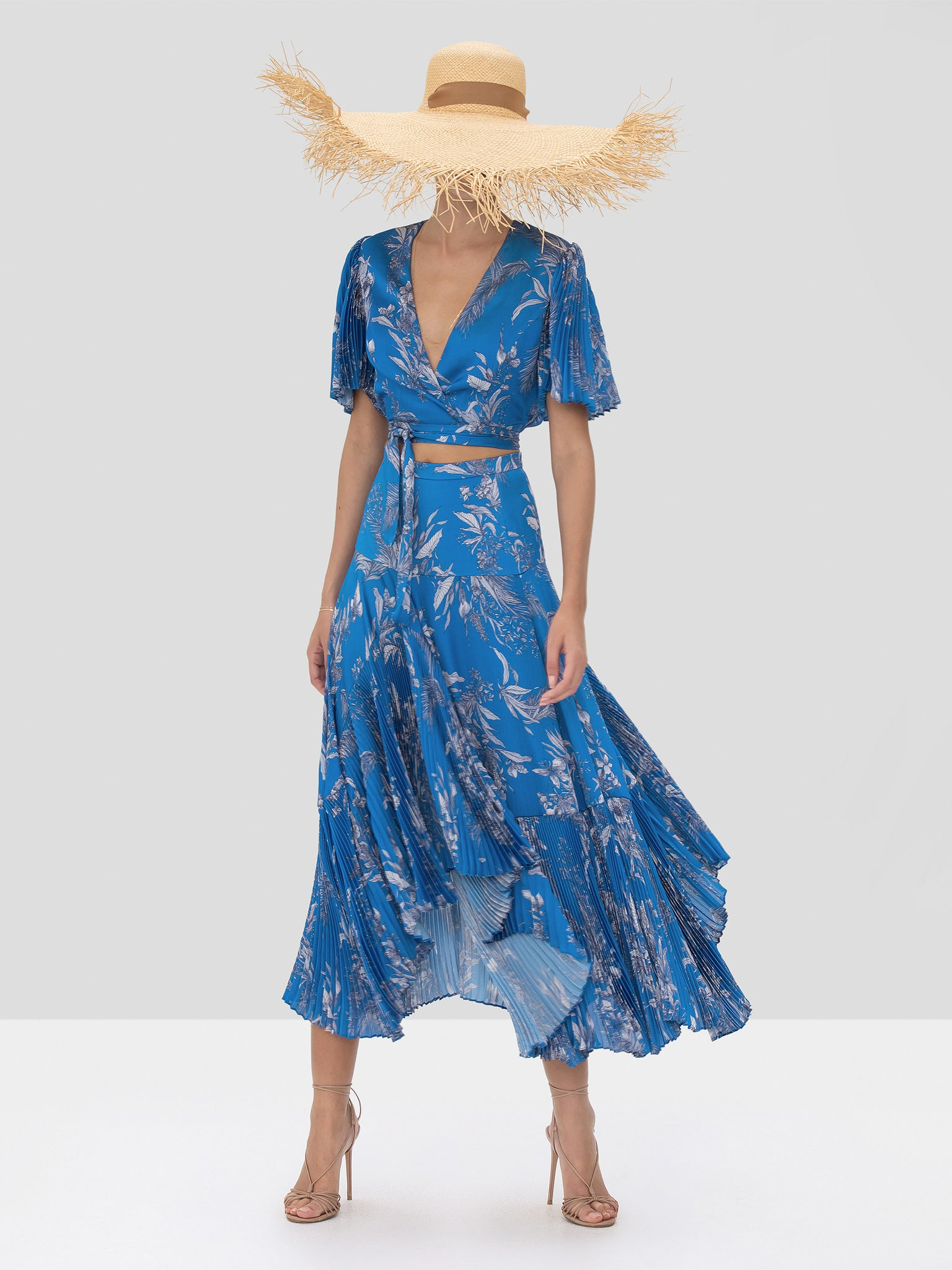 Alexis Rylie Top and Tarou Skirt in Blue Palm Spring Summer 2020 Collection