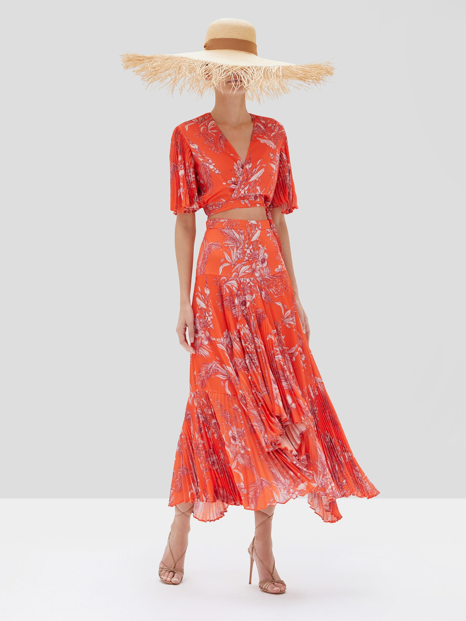 Alexis Rylie Top and Tarou Skirt in Mandarin Palm Spring Summer 2020 Collection