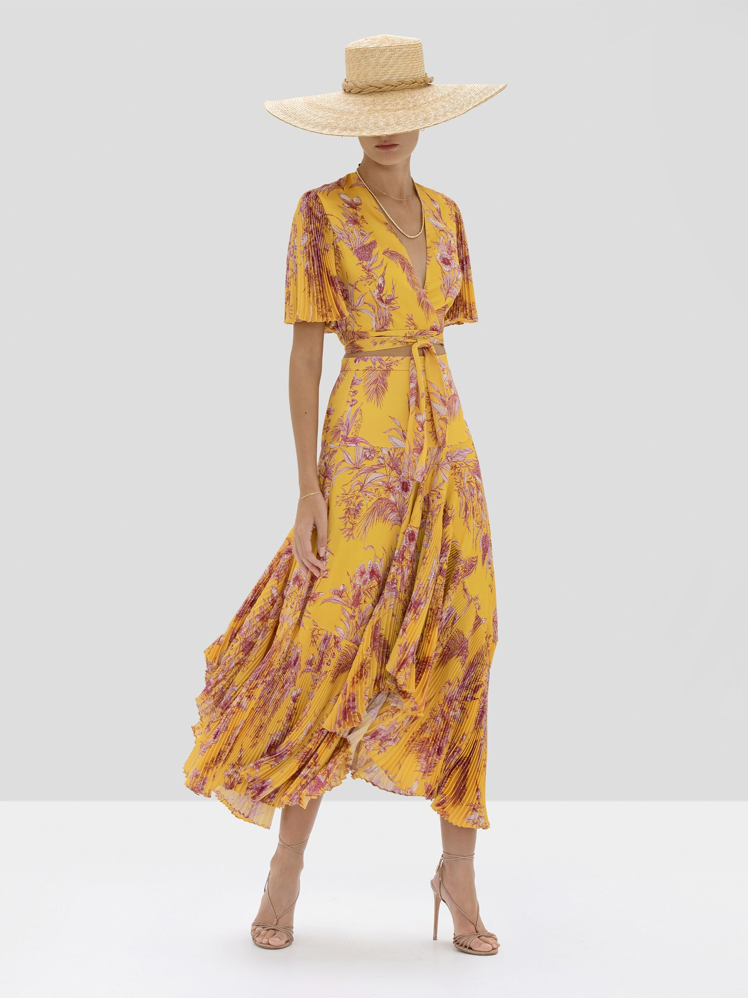 Alexis Rylie Top and Tarou Skirt in Tuscan Palm from Spring Summer 2020 Collection