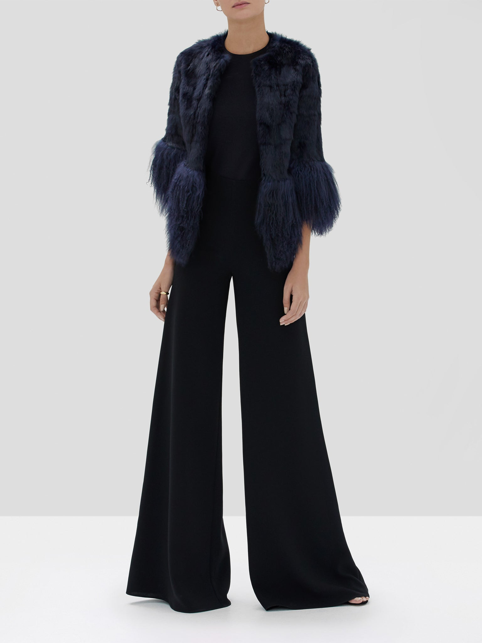 Alexis Sawyer Jacket Dark Navy, Irvine Pant Black from the Fall Winter 2019 Ready To Wear Collection