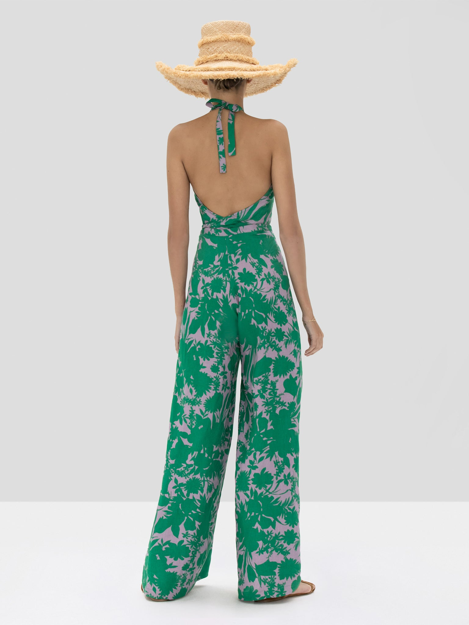 The Shasta Jumpsuit in Emerald Botanical from the Spring Summer 2020 - Rear View