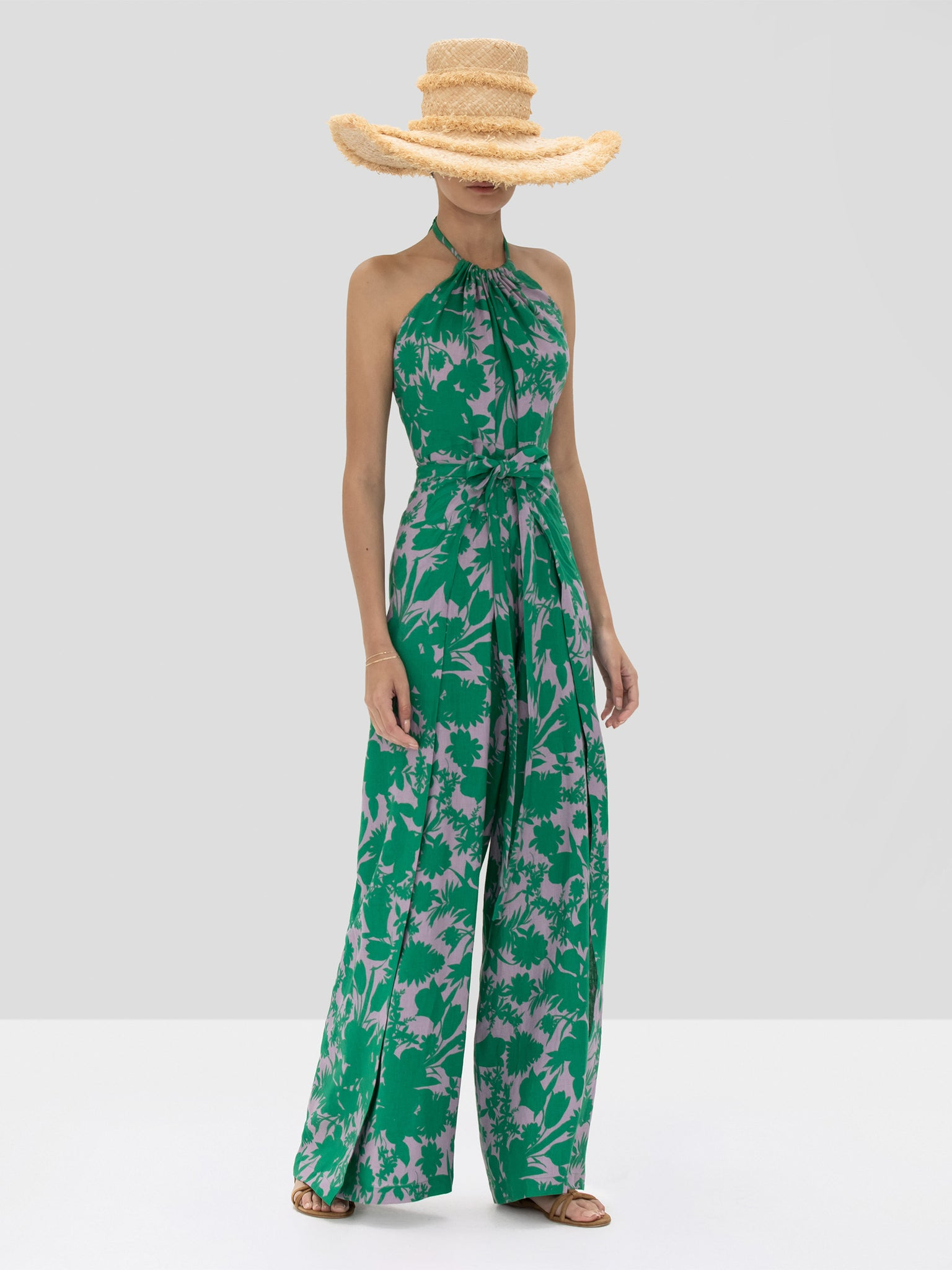 The Shasta Jumpsuit in Emerald Botanical from the Spring Summer 2020