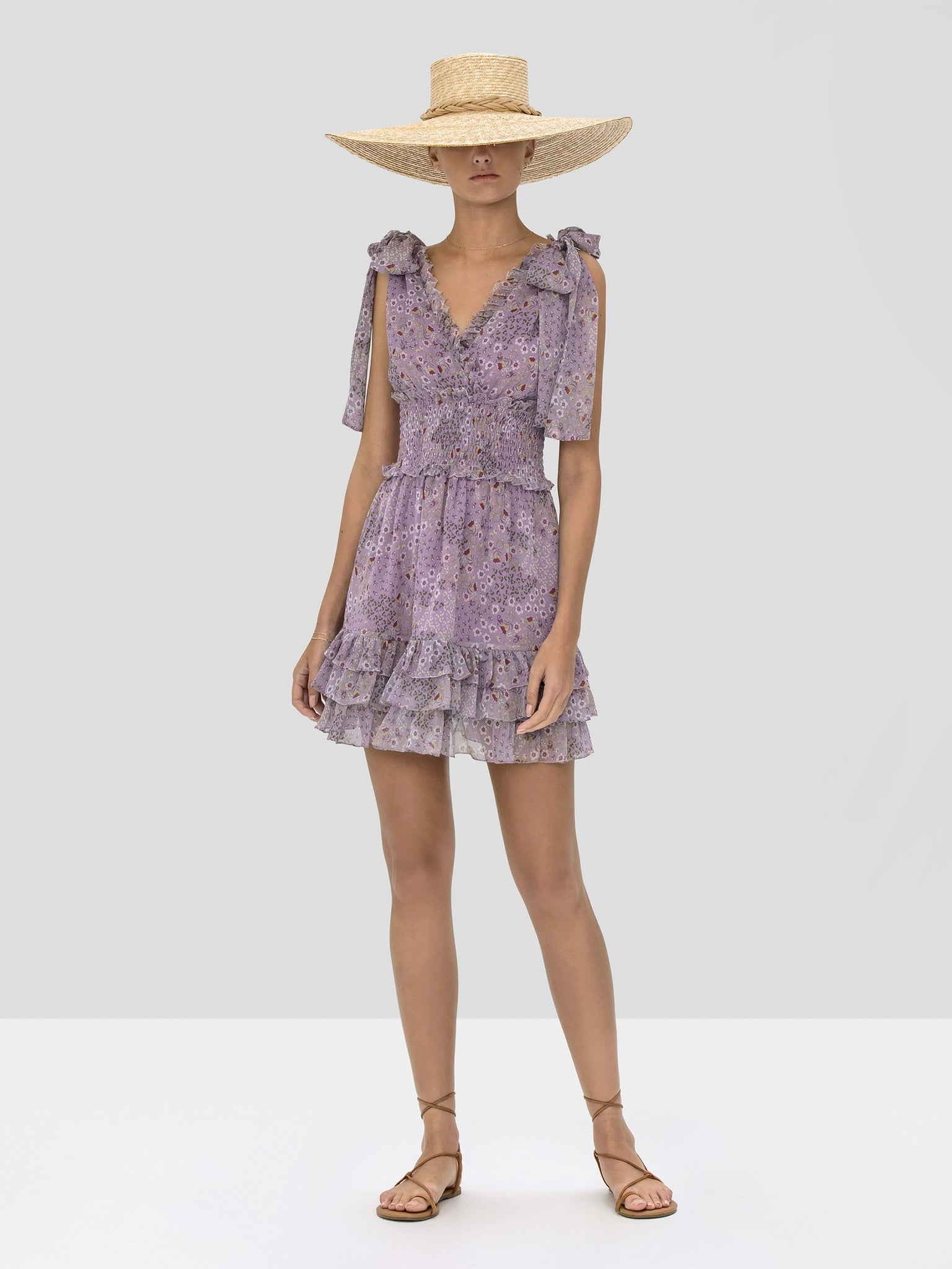 The Tandie Dress in Purple Bouquet from the Spring Summer 2020
