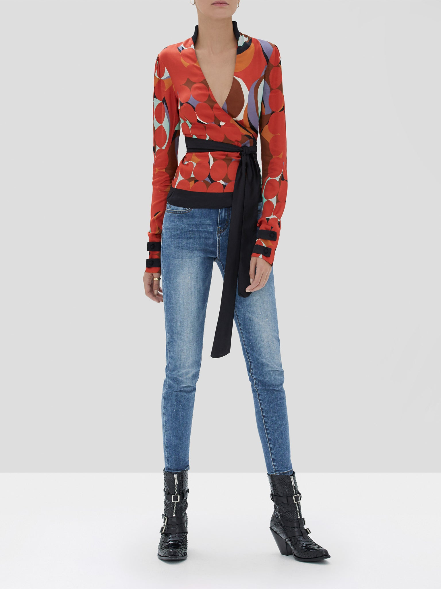 Alexis Tarvos Top in Red Eclipse from the Fall Winter 2019 Ready To Wear Collection