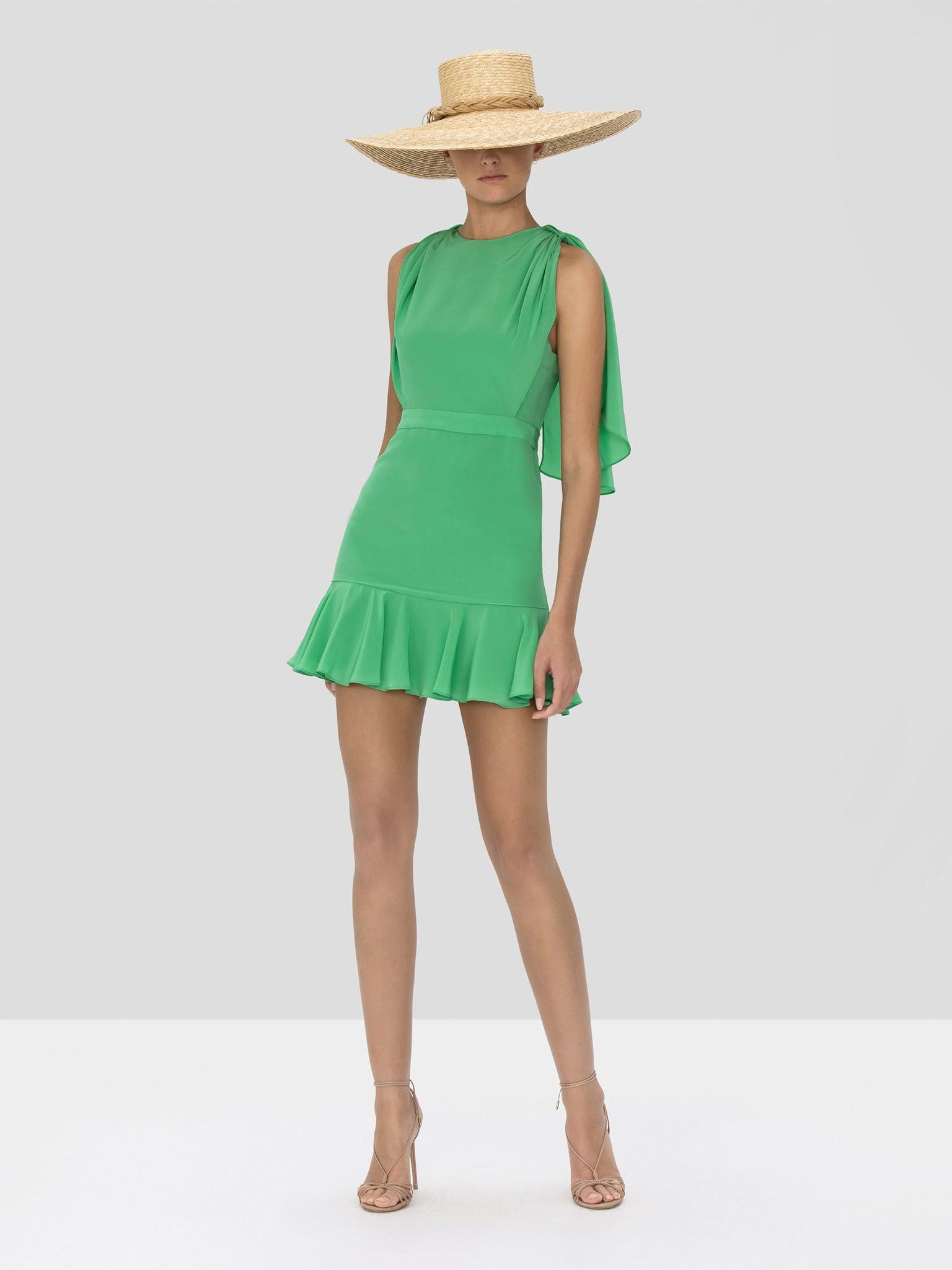 Alexis Tensia Dress in Kelly Green from Spring Summer 2020 Collection