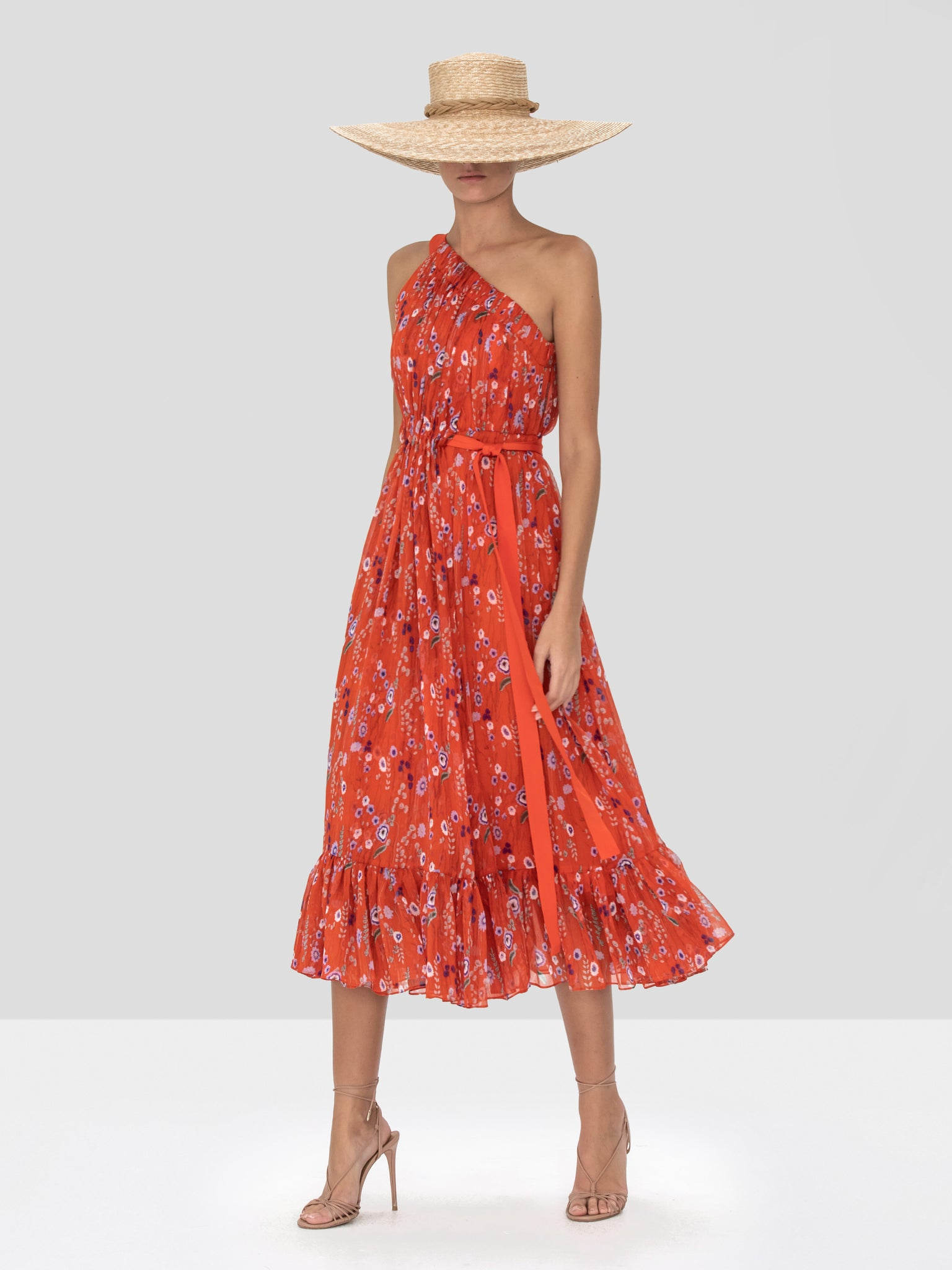 Alexis Teodora Dress in Red Bouquet from the Spring Summer 2020 - Rear View