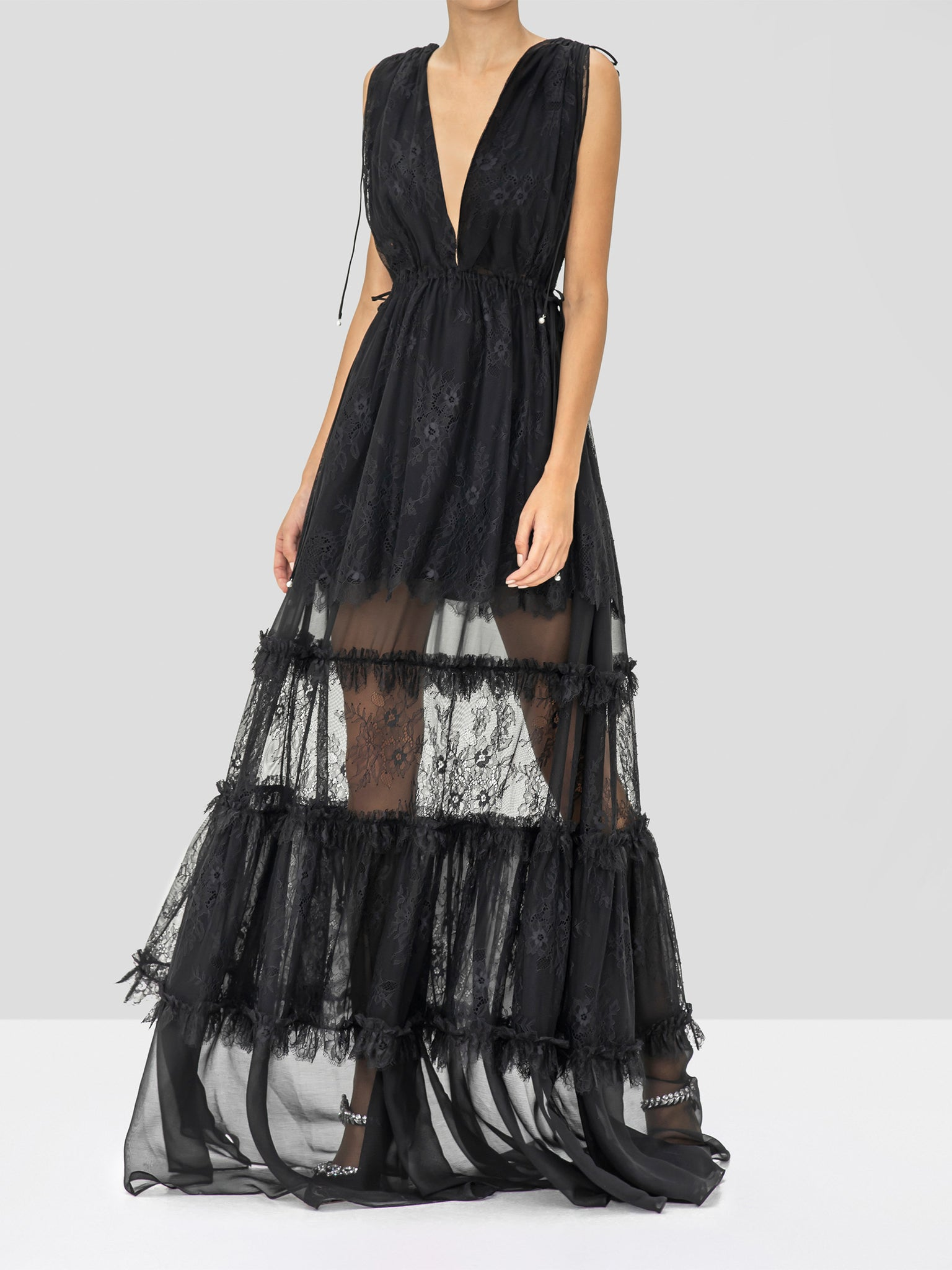 Alexis Umbria Dress in Black from the Holiday 2019 Ready To Wear Collection