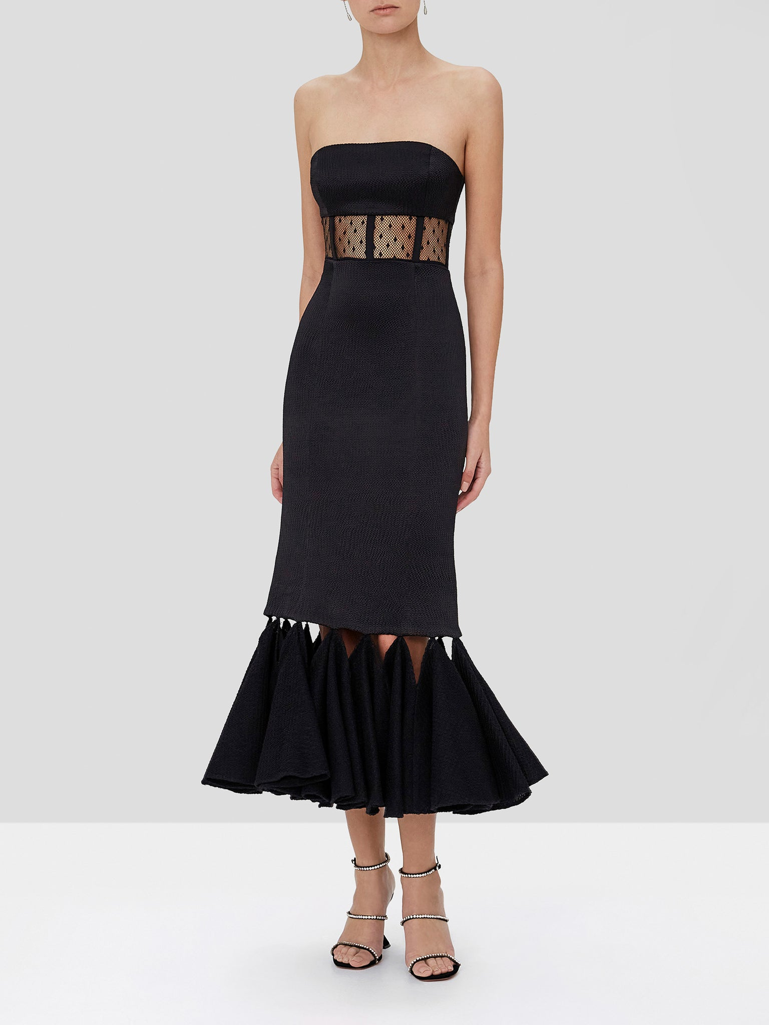 verbena dress in black