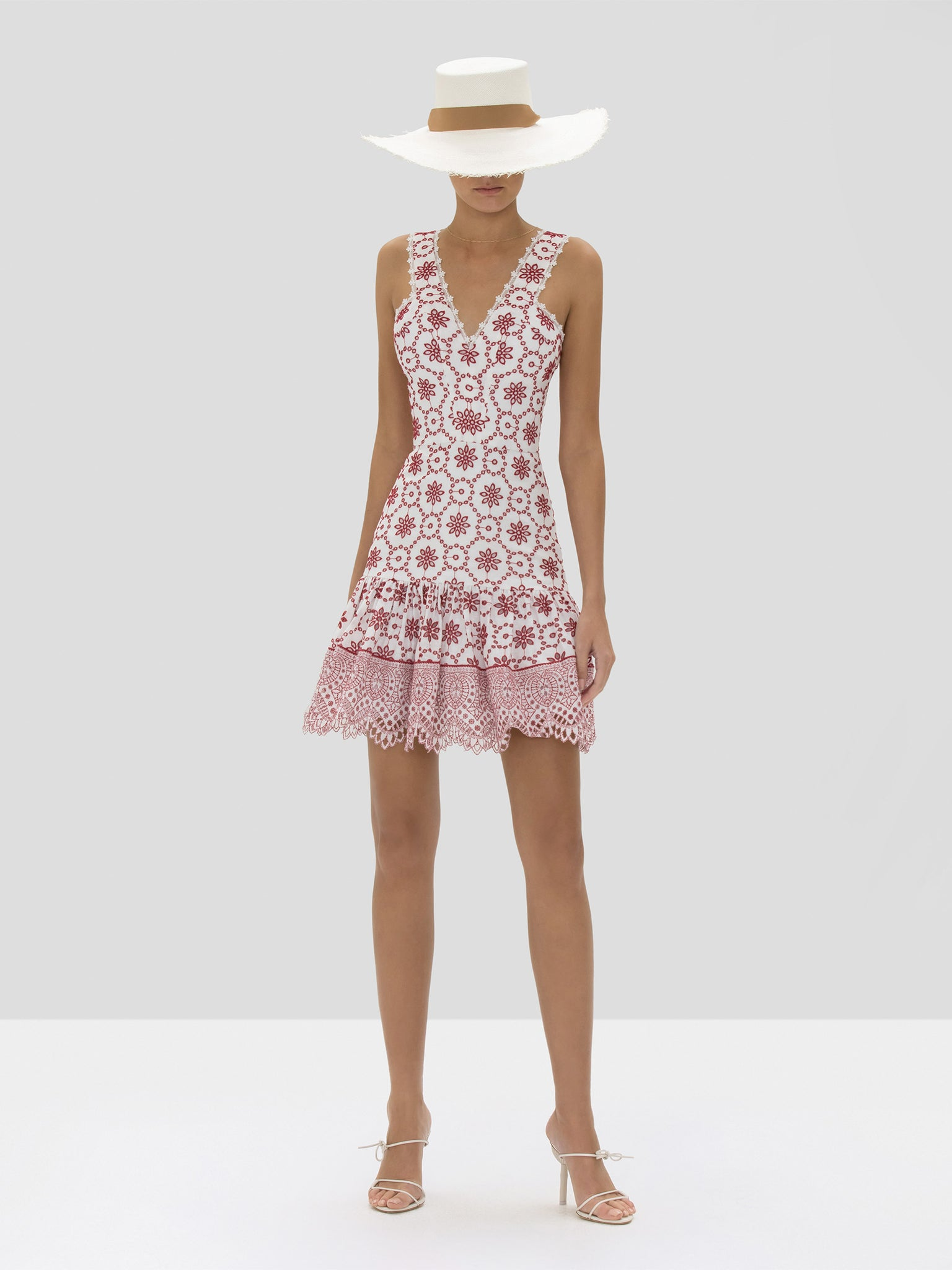 The Villa Dress in Berry Eyelet Embroidery from the Spring Summer 2020