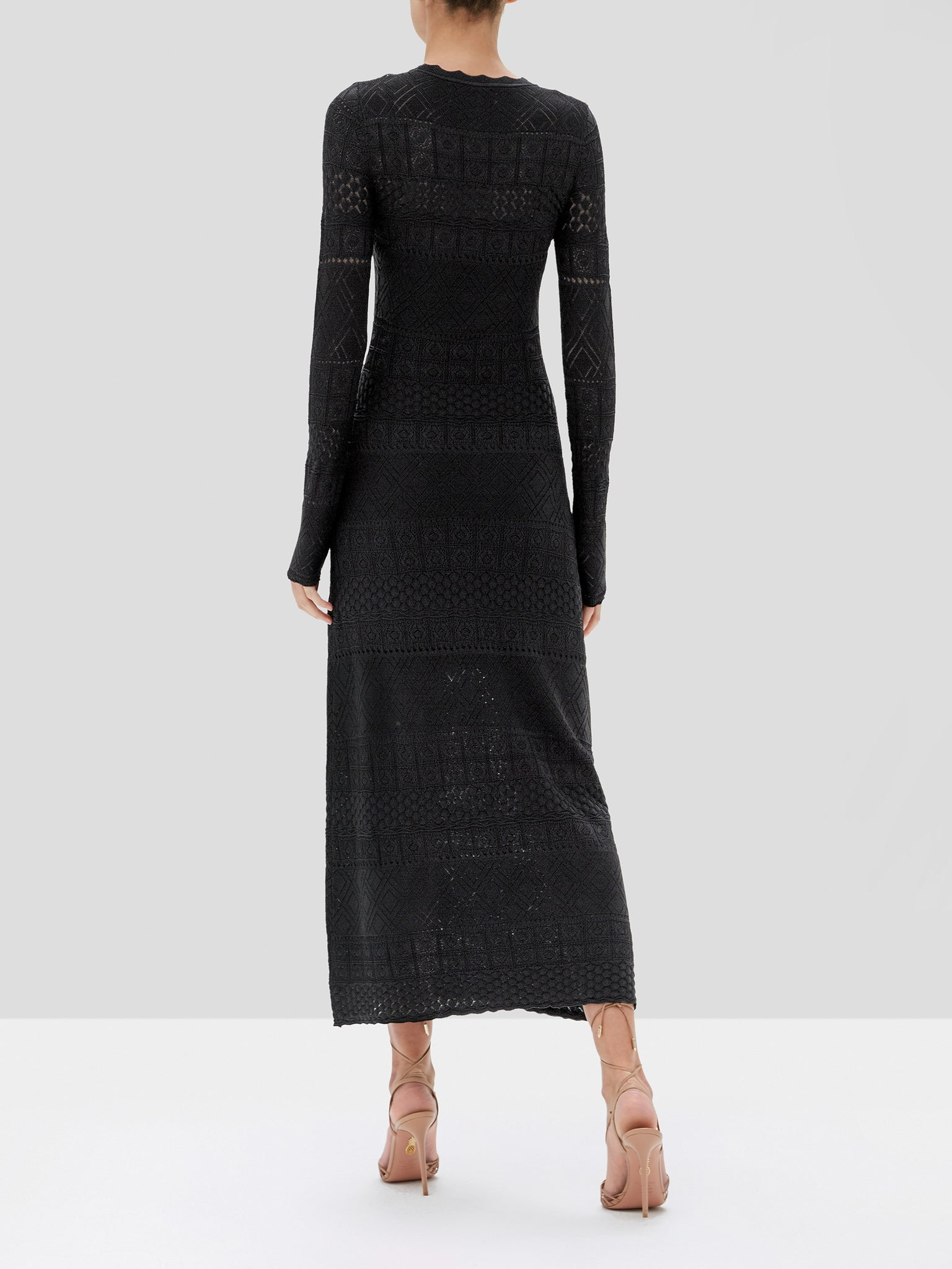 Volta dress in black  - Rear View