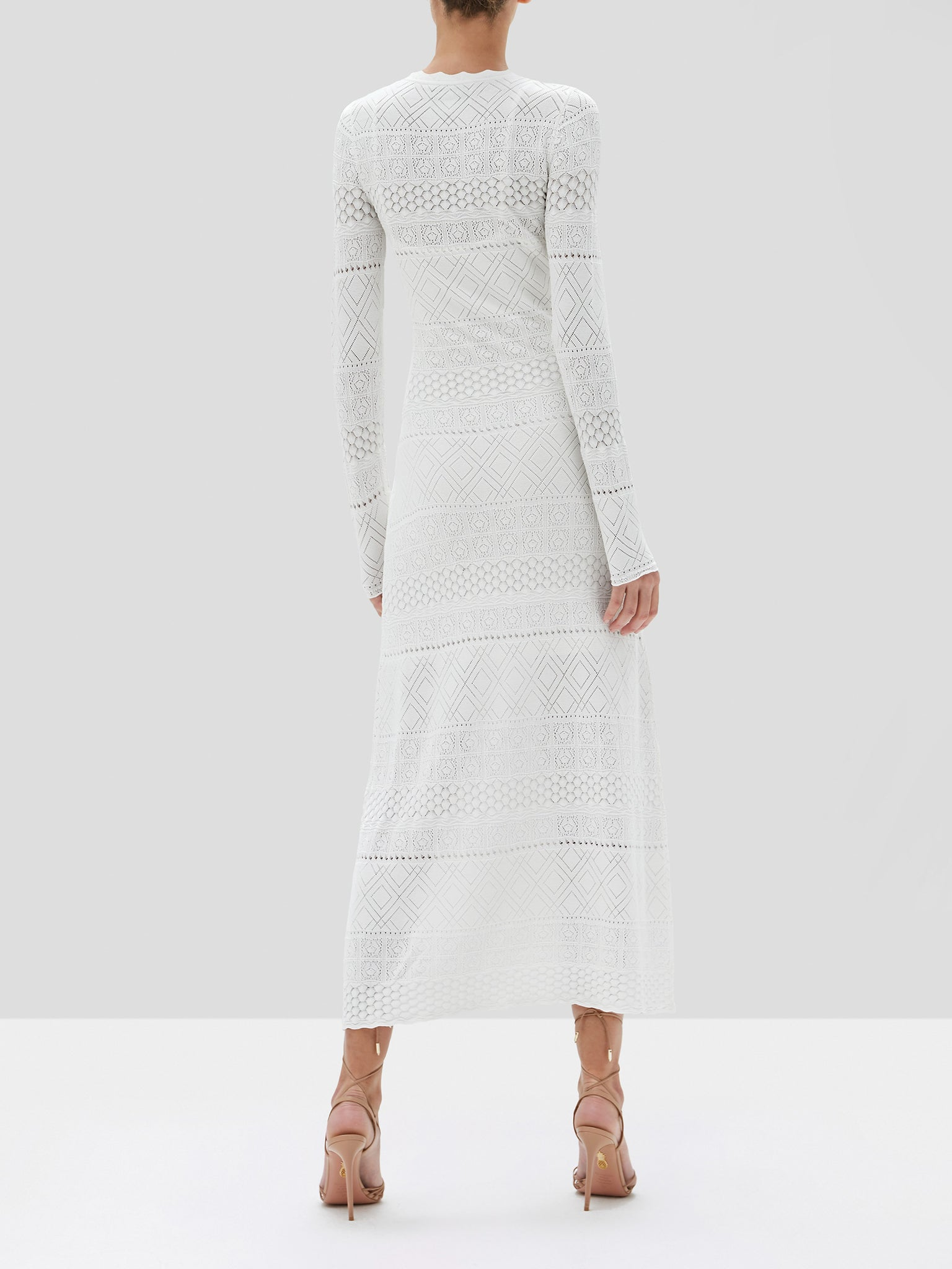 Volta dress in white front - Rear View