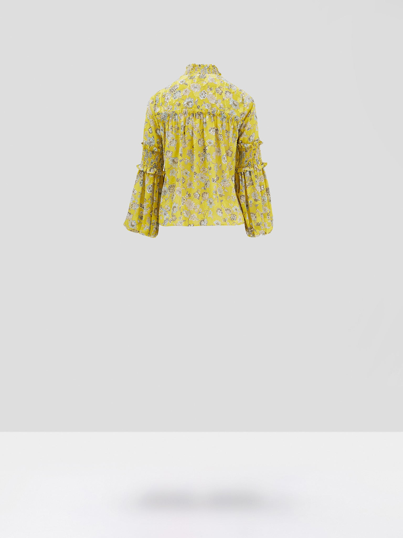 Alexis Zaria Top in Citron Floral  - Rear View