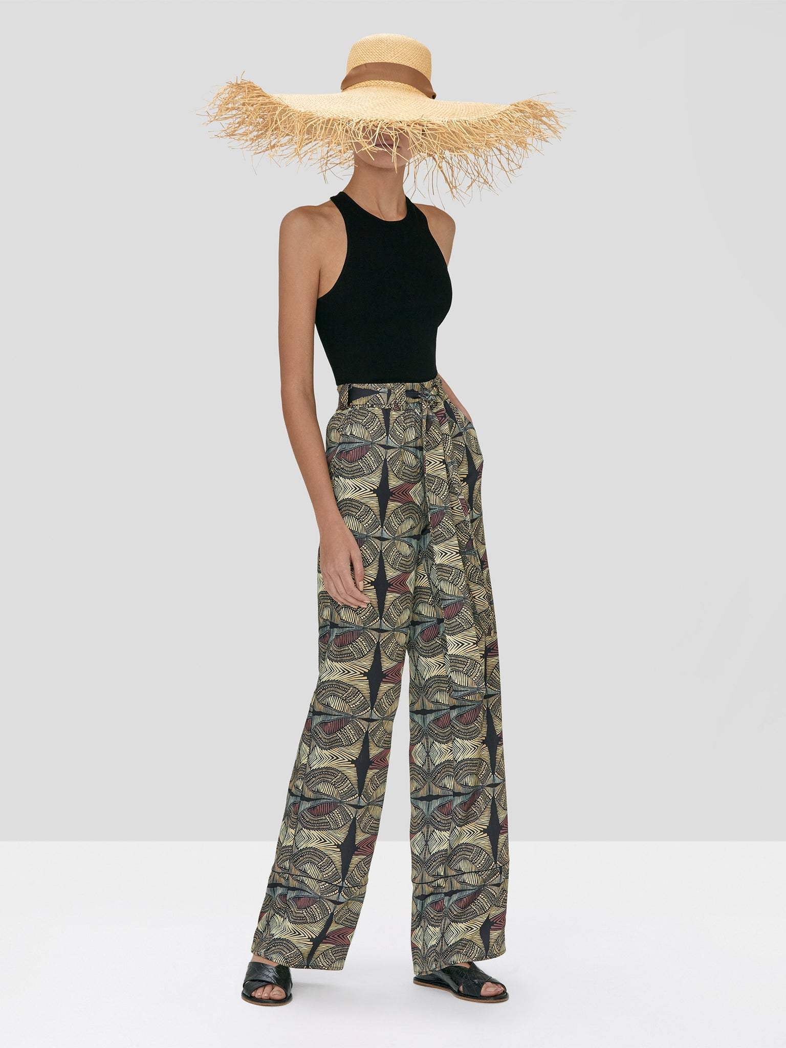 Alexis Zeni Top Black and Amptin Pant in Safari from Spring Summer 2020 Collection