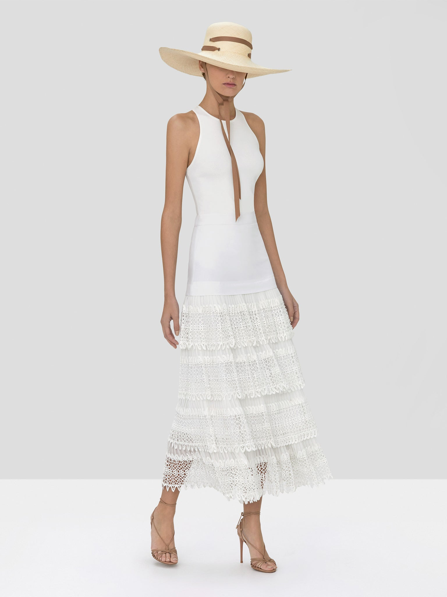 Alexis Zeni Top in White and Helis Skirt in White from Spring Summer 2020