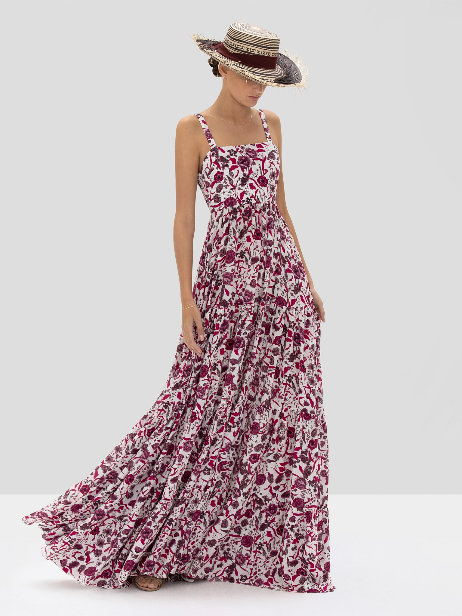 The Zofia Dress in Berry Floral from the Spring Summer 2020