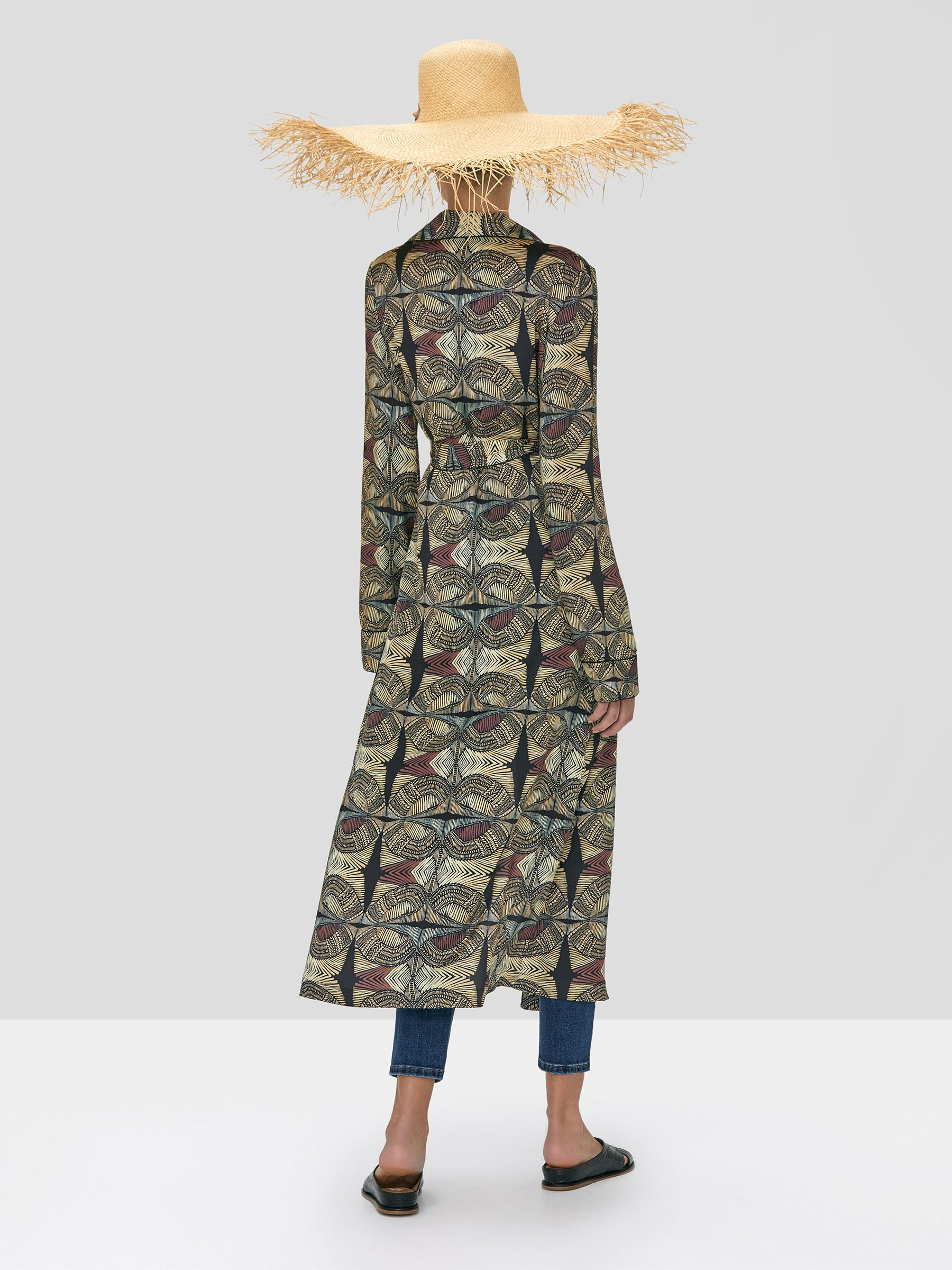 Alexis Arrati Coat and Amptin Pant in Safari from Spring Summer 2020  - Rear View