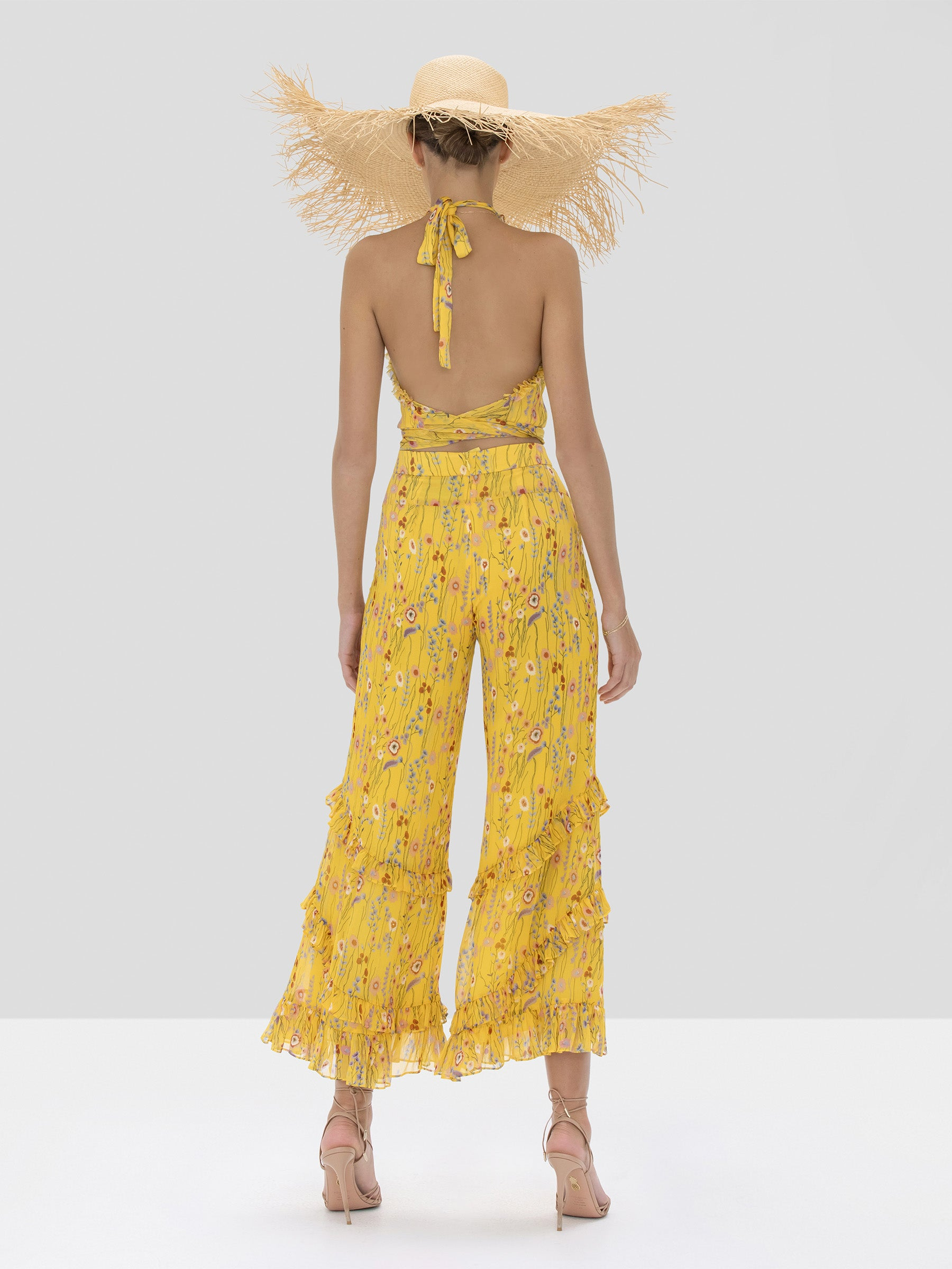 faizel pant in sunrise bouquet - Rear View