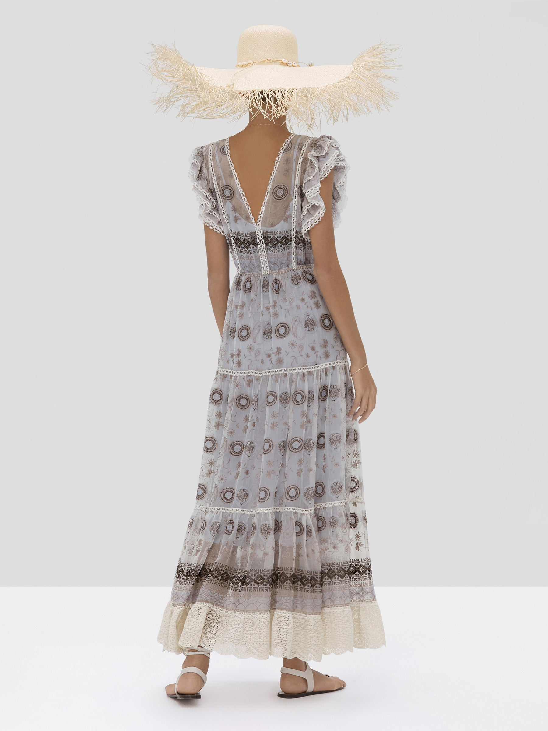 The Beah Dress in Medallion Embroidery from the Spring Summer 2020 - Rear View