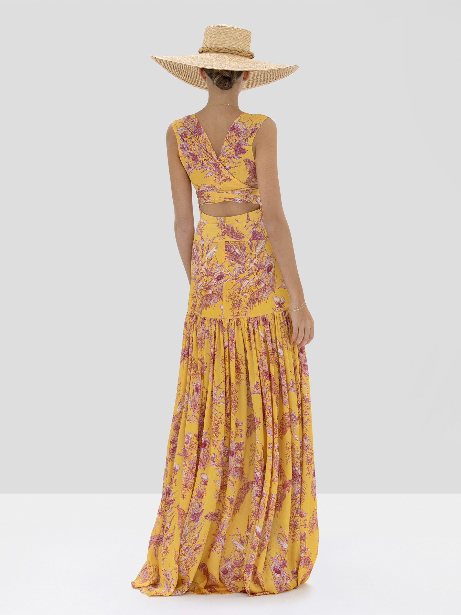 Alexis Belaya Dress in Tuscan Palm from Spring Summer 2020 Collection - Rear View