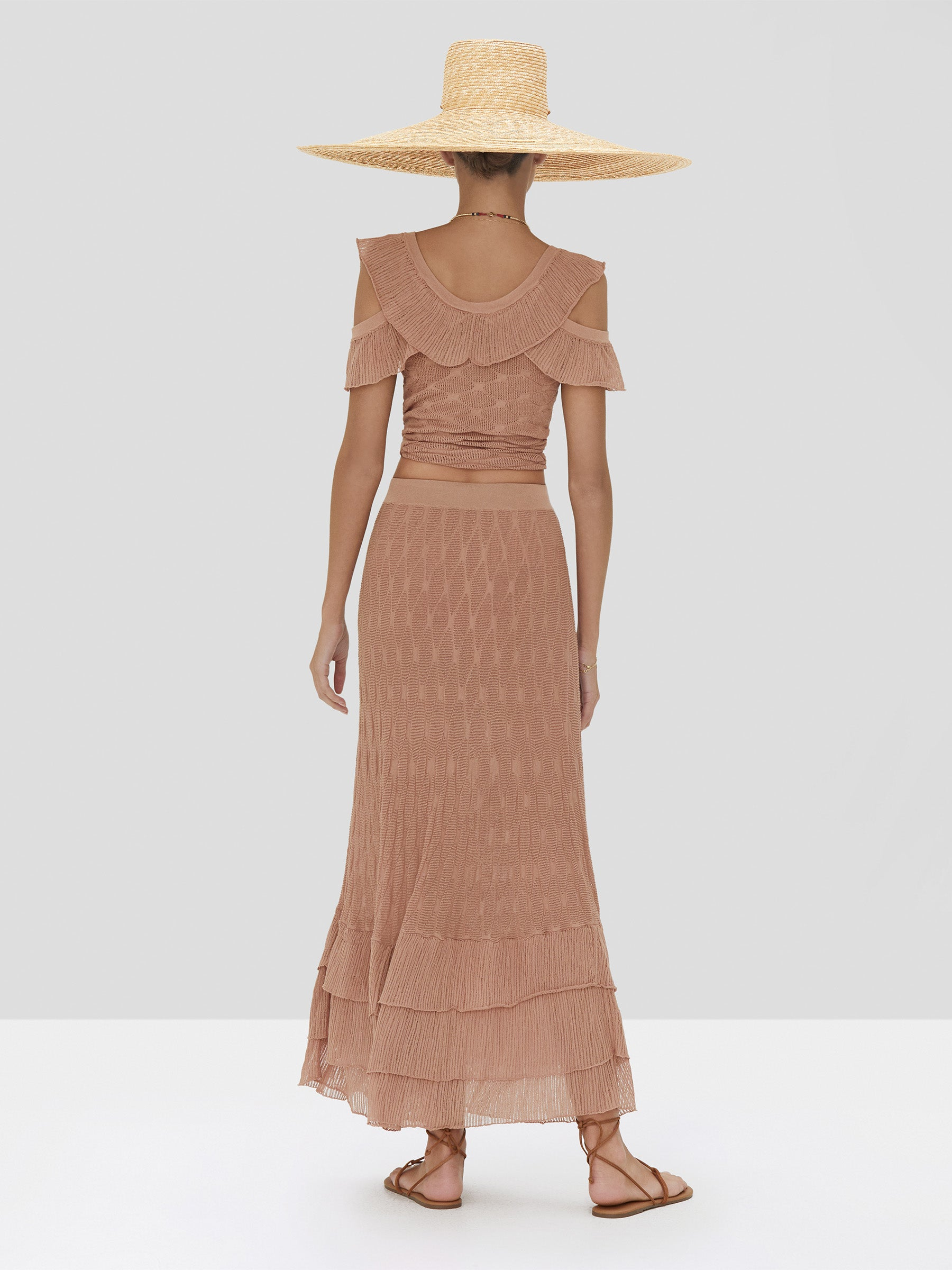 Alexis Belva Top and Dimona Skirt in Sand Spring Summer 2020 Collection - Rear View