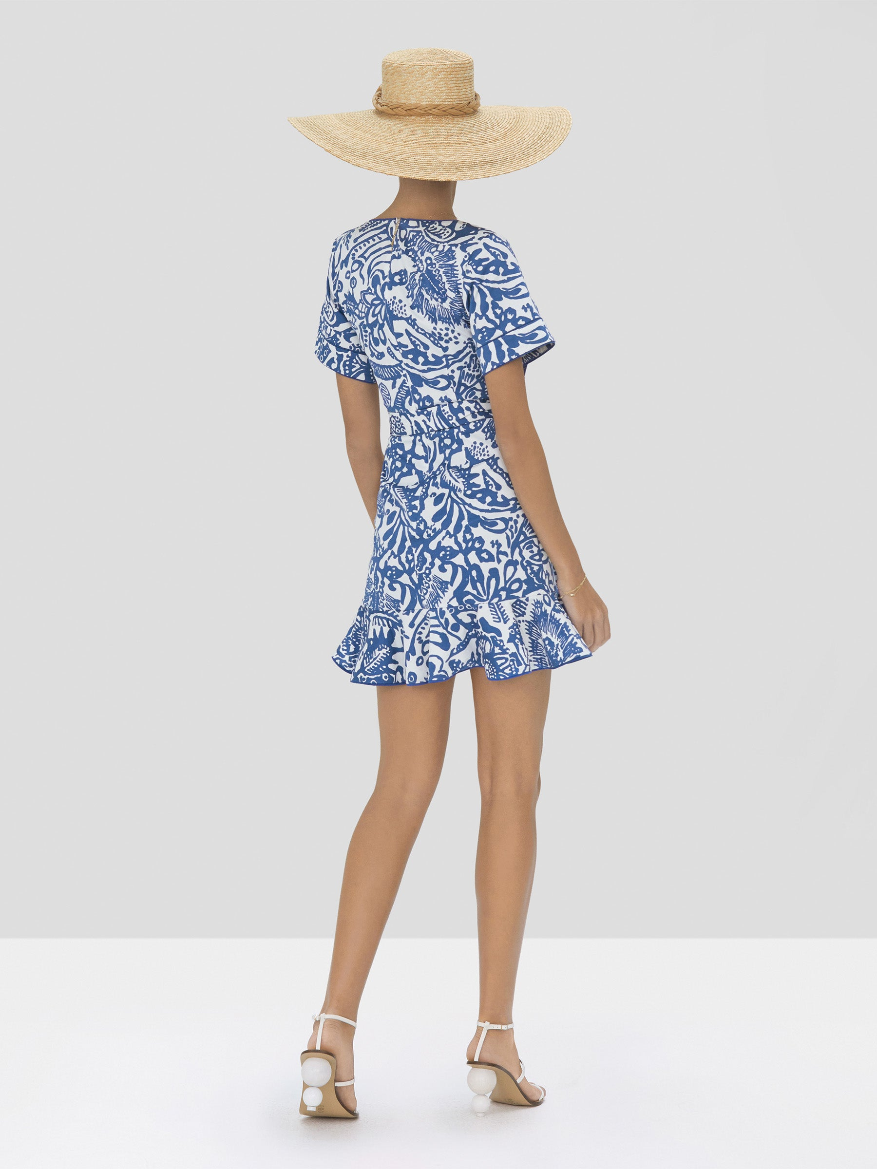 Alexis Berenna Dress in Tropical Blue from Spring Summer 2020 Collection - Rear View