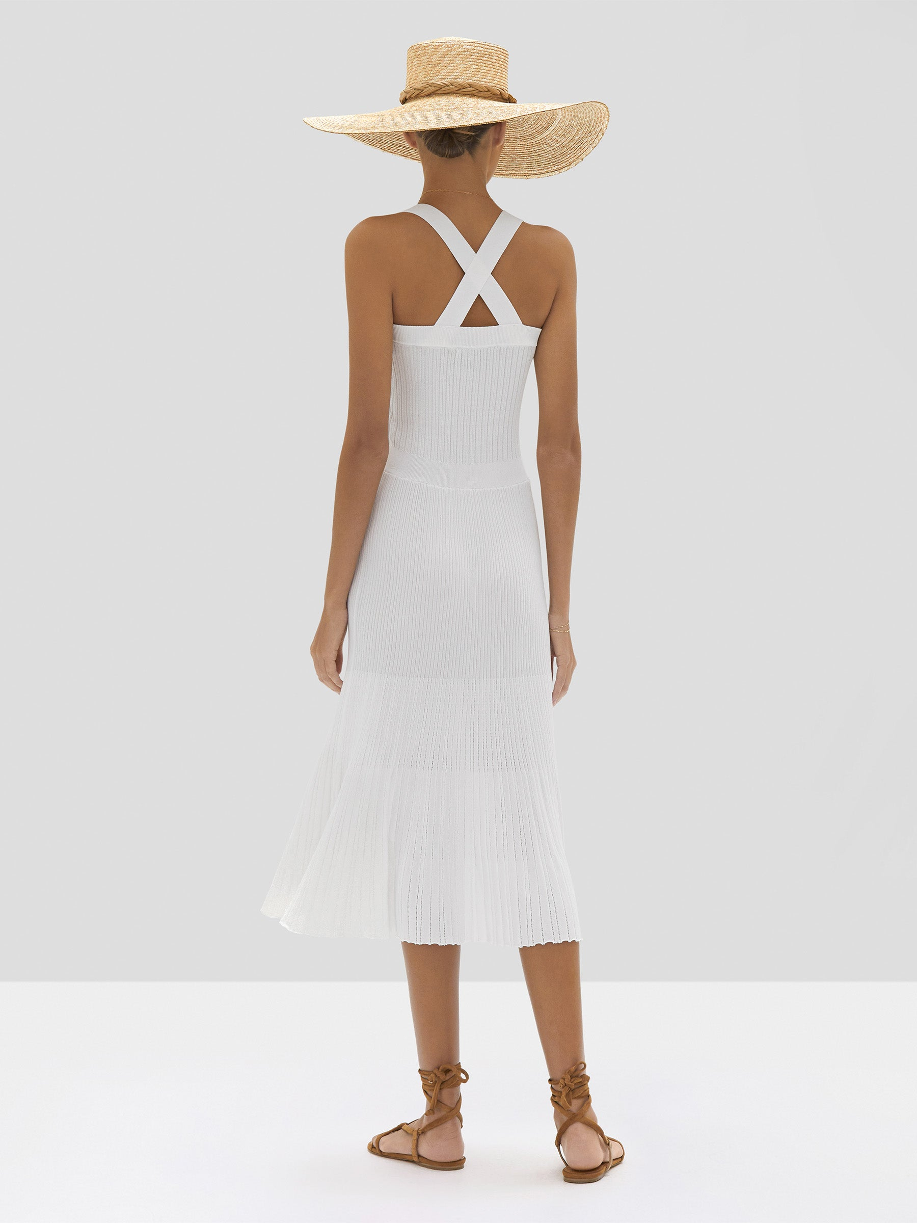 The Bess Dress in White from the Spring Summer 2020 - Rear View